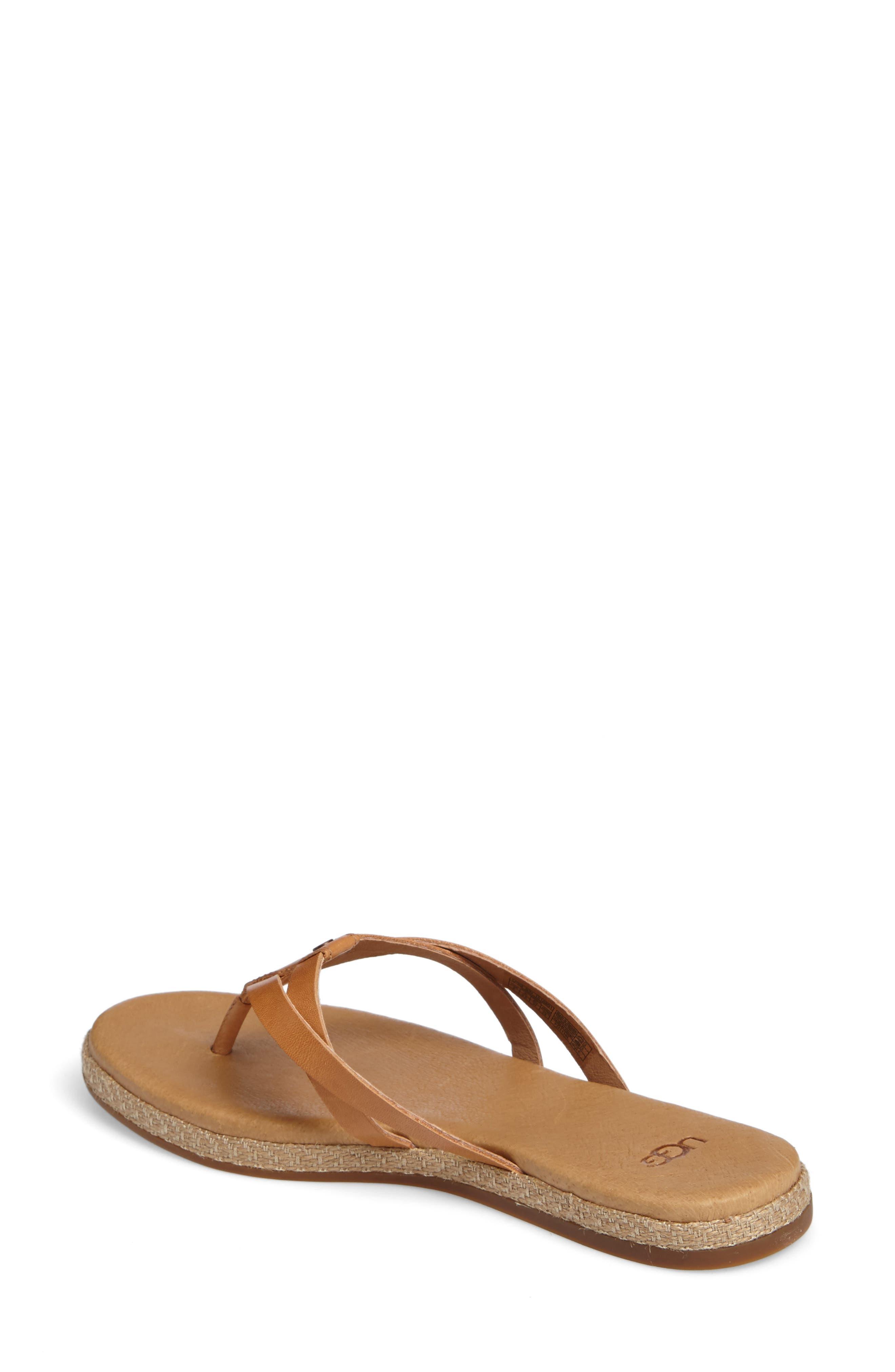 Annice Flip Flop,                             Alternate thumbnail 2, color,                             Cafe Leather