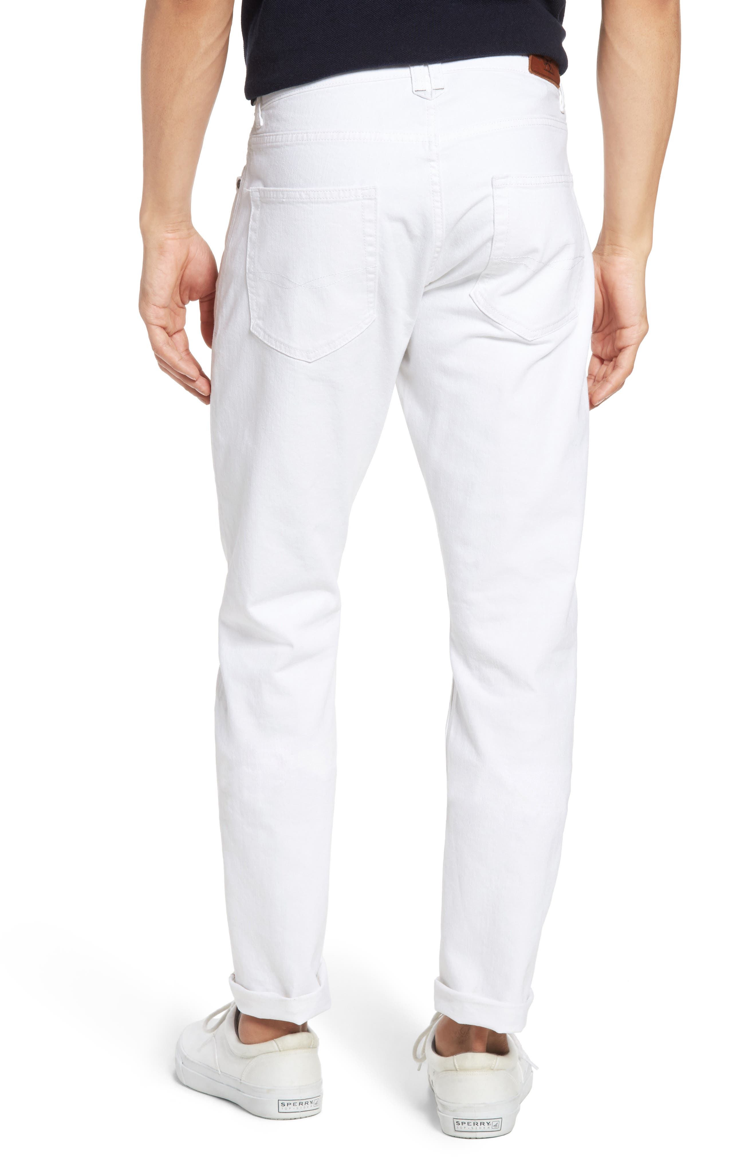 Allemand Straight Leg Jeans,                             Alternate thumbnail 2, color,                             Snow