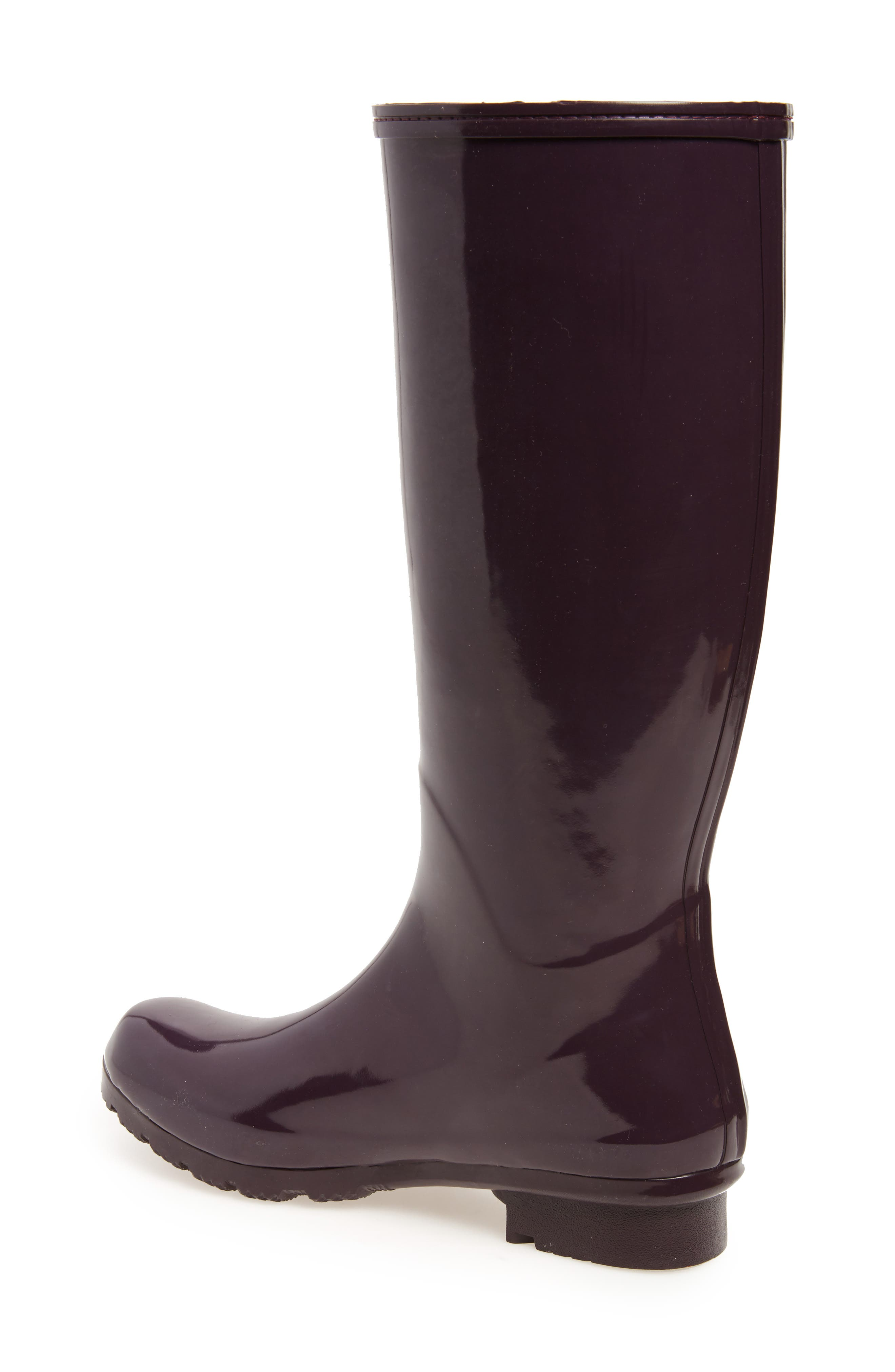 Classic Glossy Rain Boot,                             Alternate thumbnail 2, color,                             Eggplant