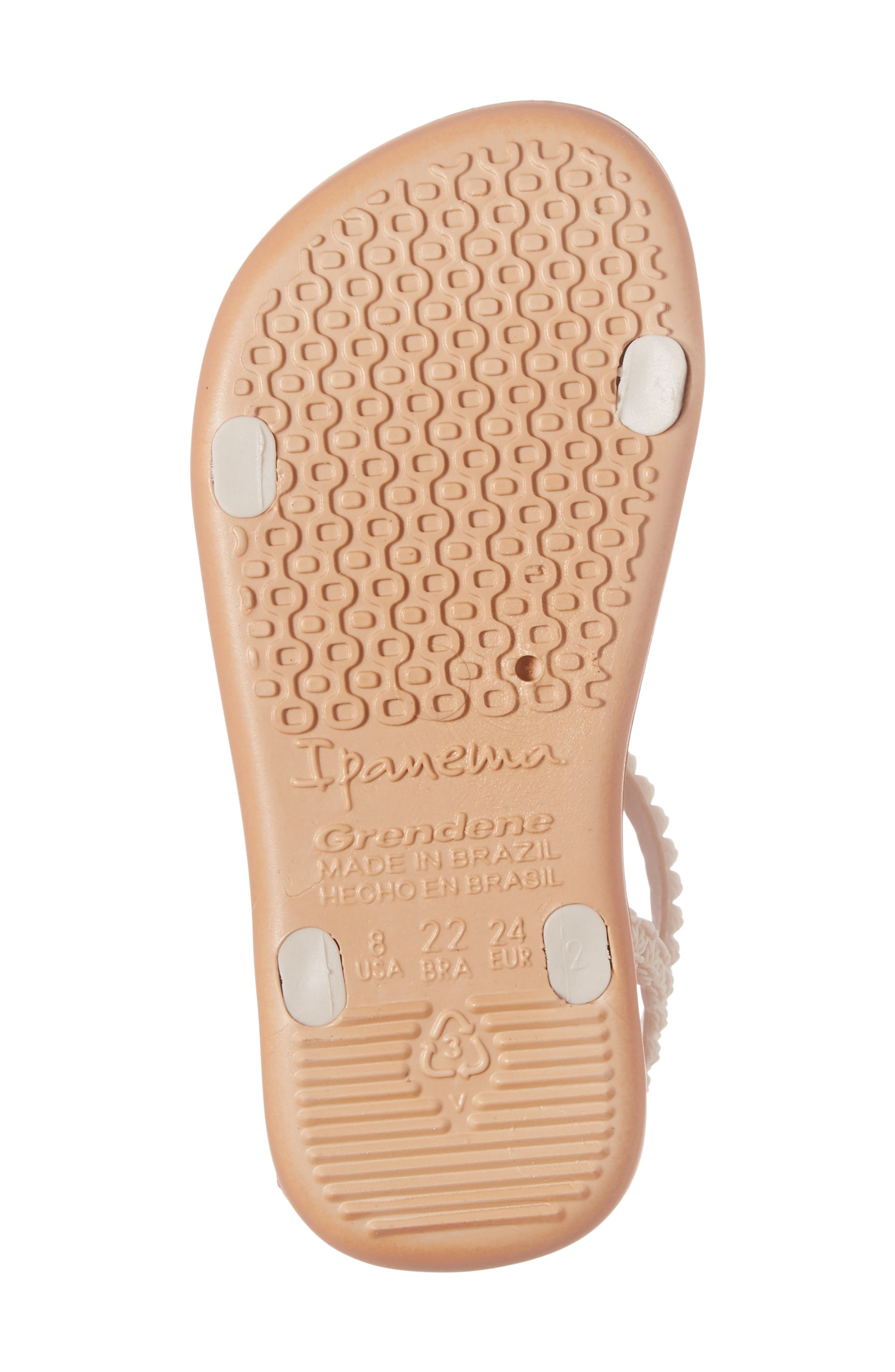 My First Ipanema Sandal,                             Alternate thumbnail 6, color,                             Brown/ Pink