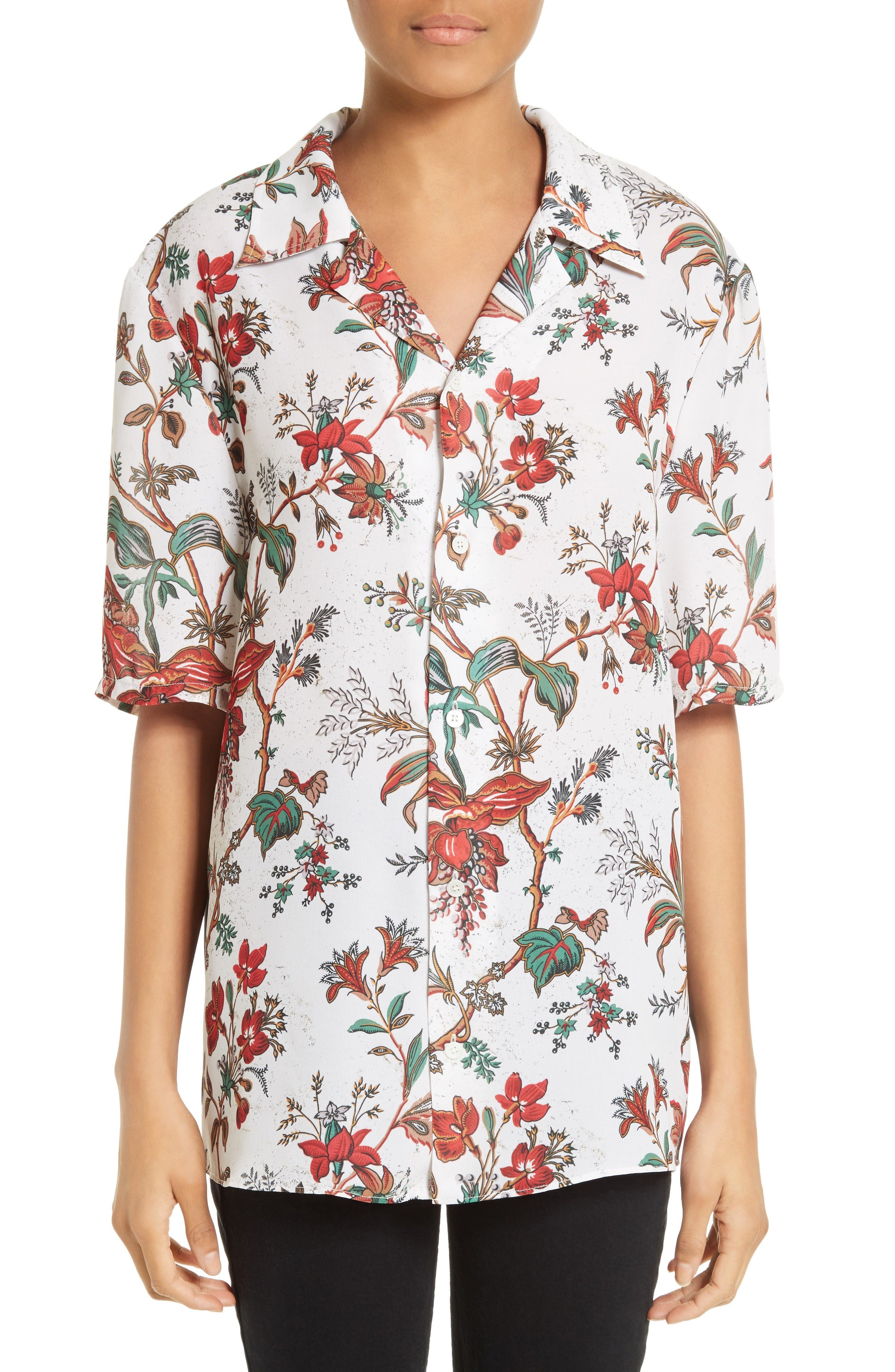 Alternate Image 1 Selected - McQ Alexander McQueen Billy Floral Print Blouse