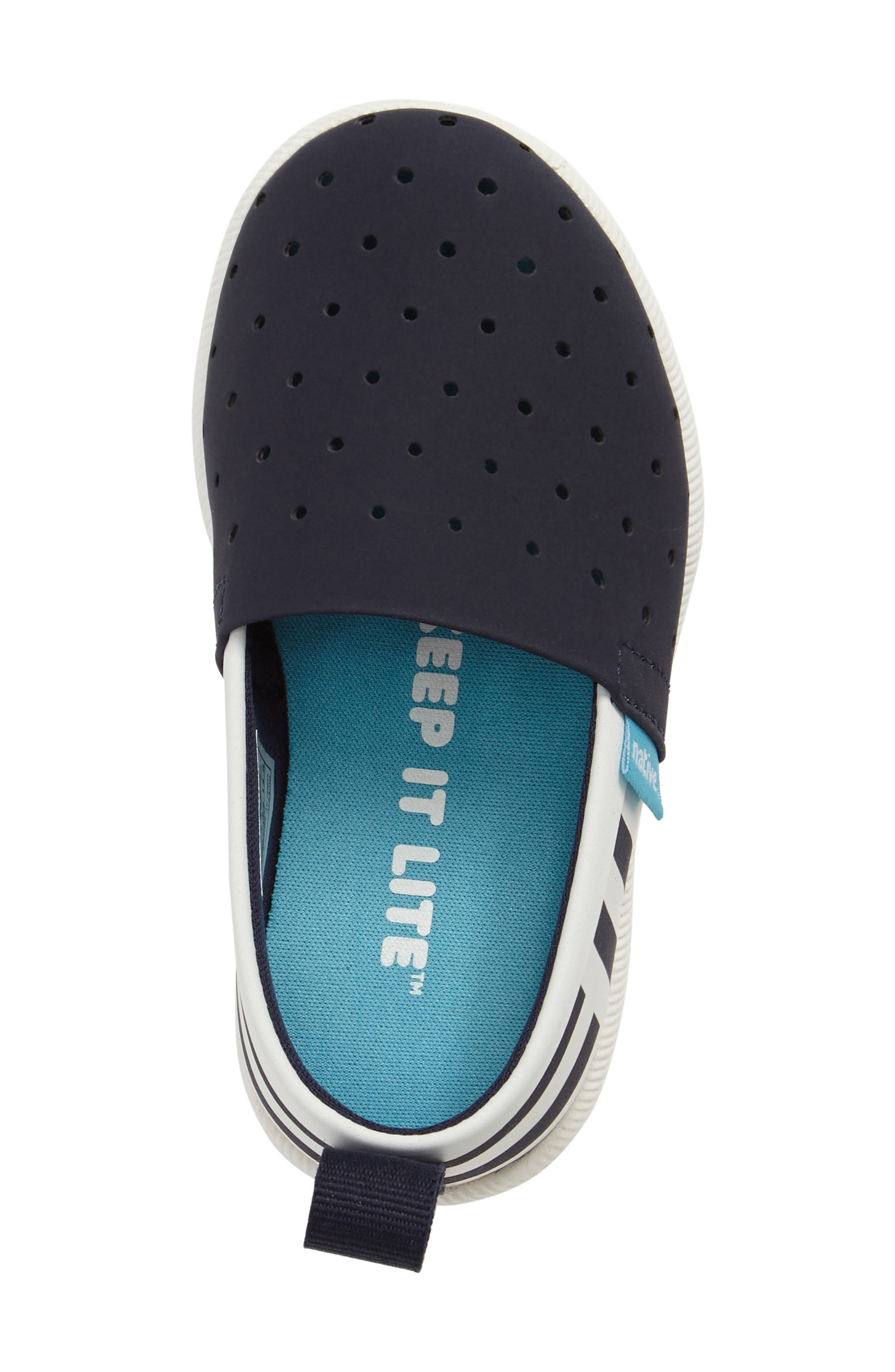 Venice Stripe Slip-On,                             Alternate thumbnail 5, color,                             Regatta Blue/ White/ Stripe