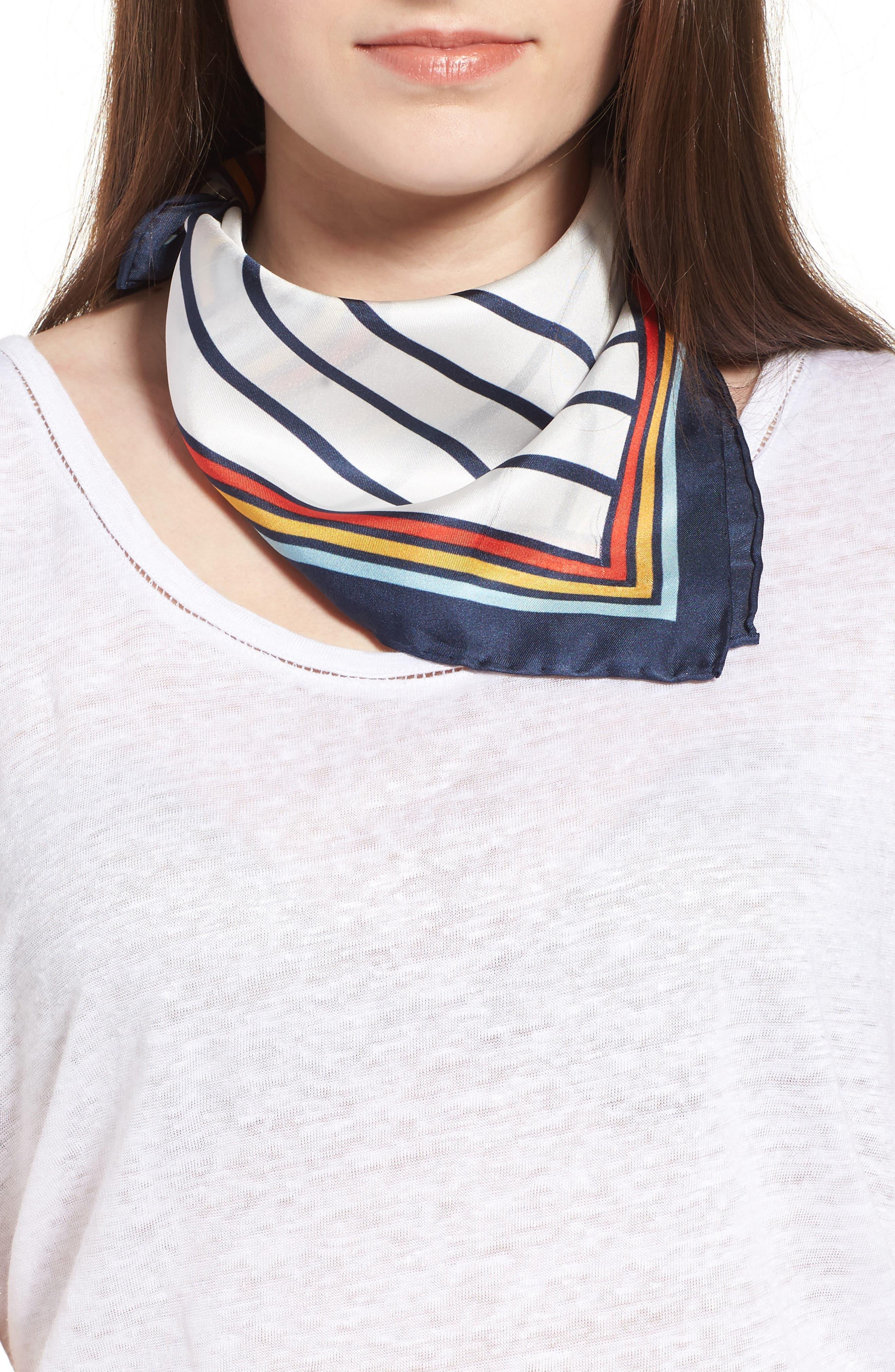 Love Square Silk Square,                         Main,                         color, Rainbow