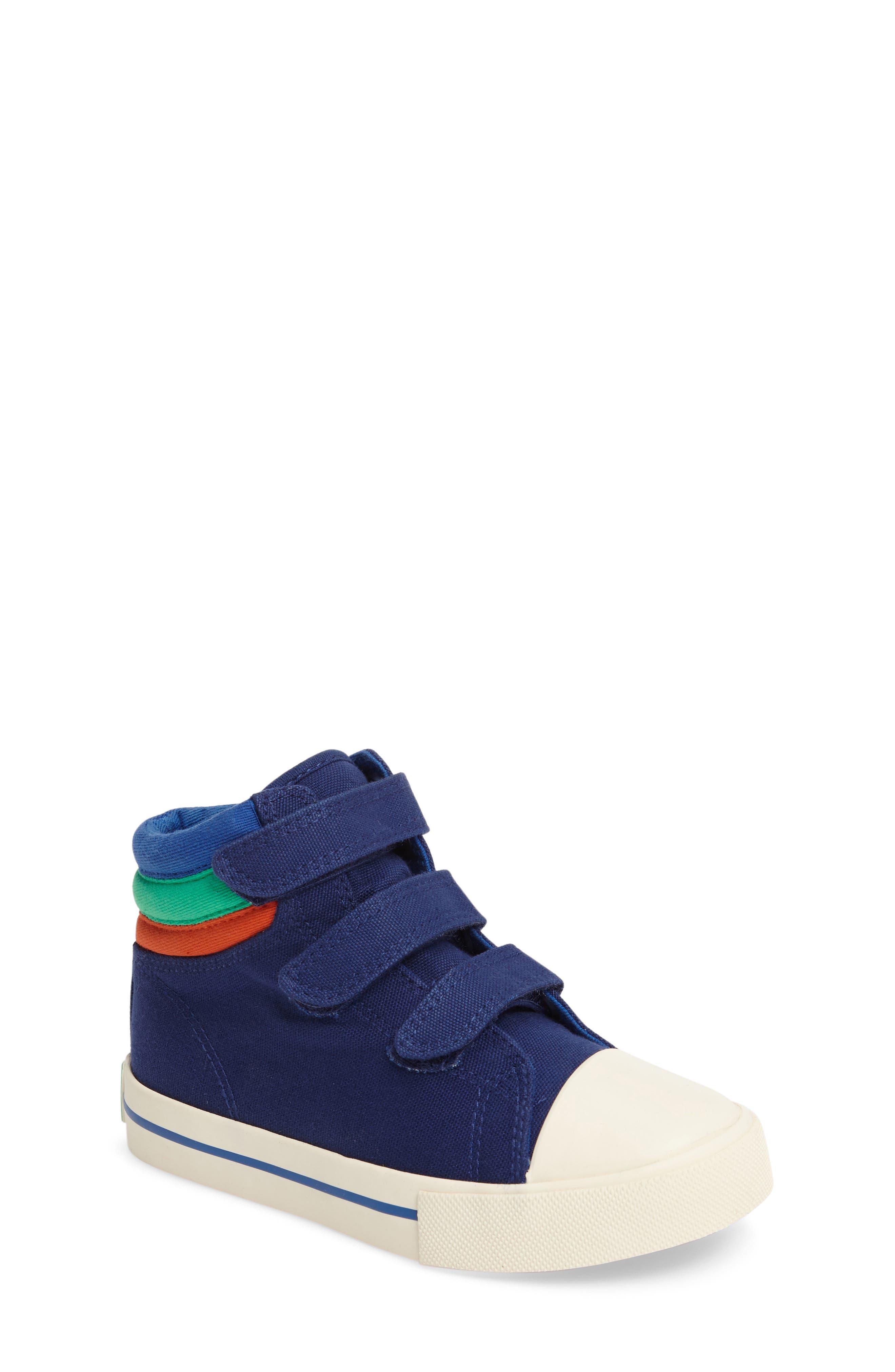 Main Image - Mini Boden High Top Sneaker (Toddler, Little Kid & Big Kid)