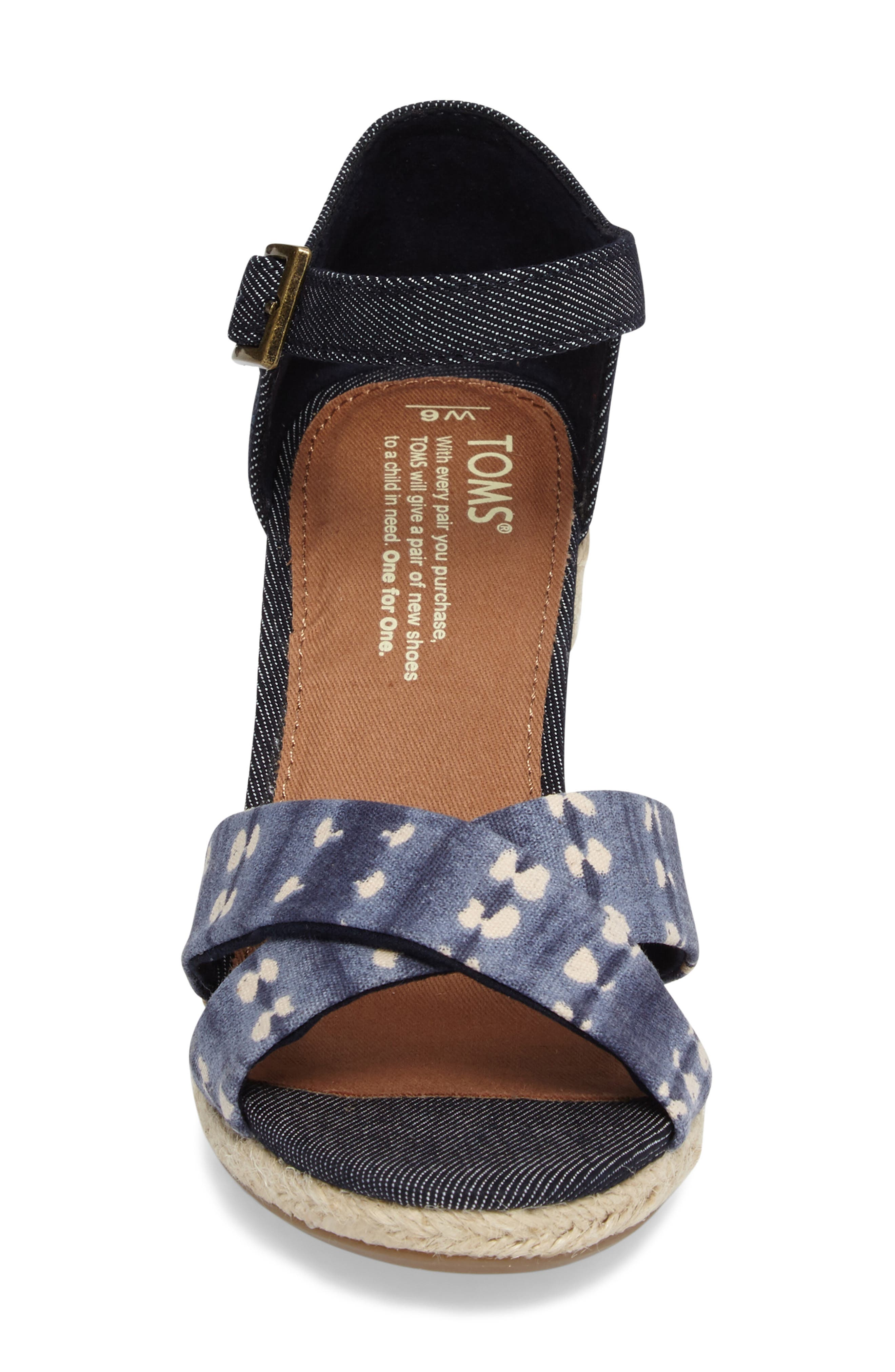 Alternate Image 4  - TOMS Sienna Wedge Sandal (Women)