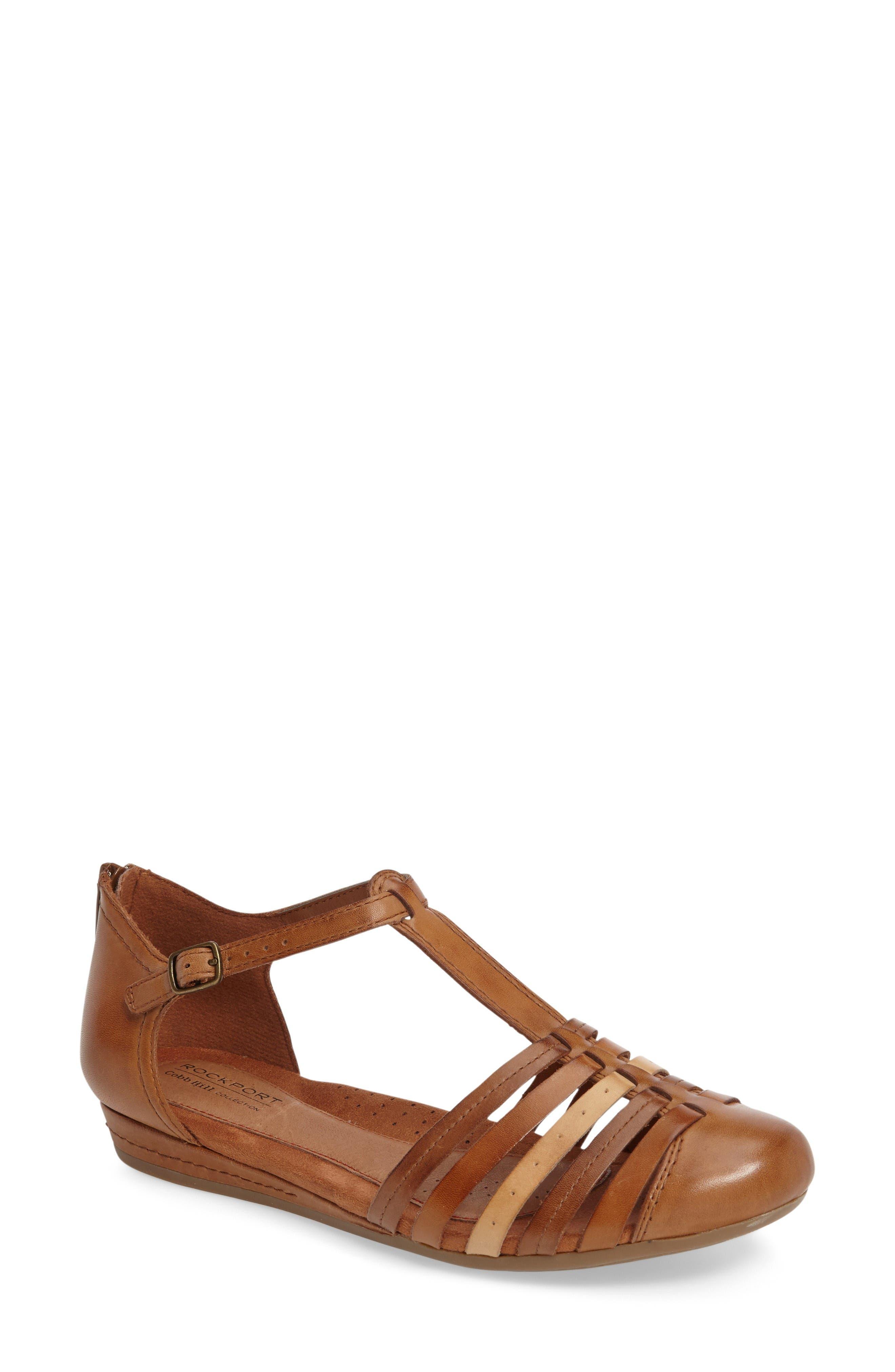Main Image - Rockport Cobb Hill Galway T-Strap Sandal (Women)
