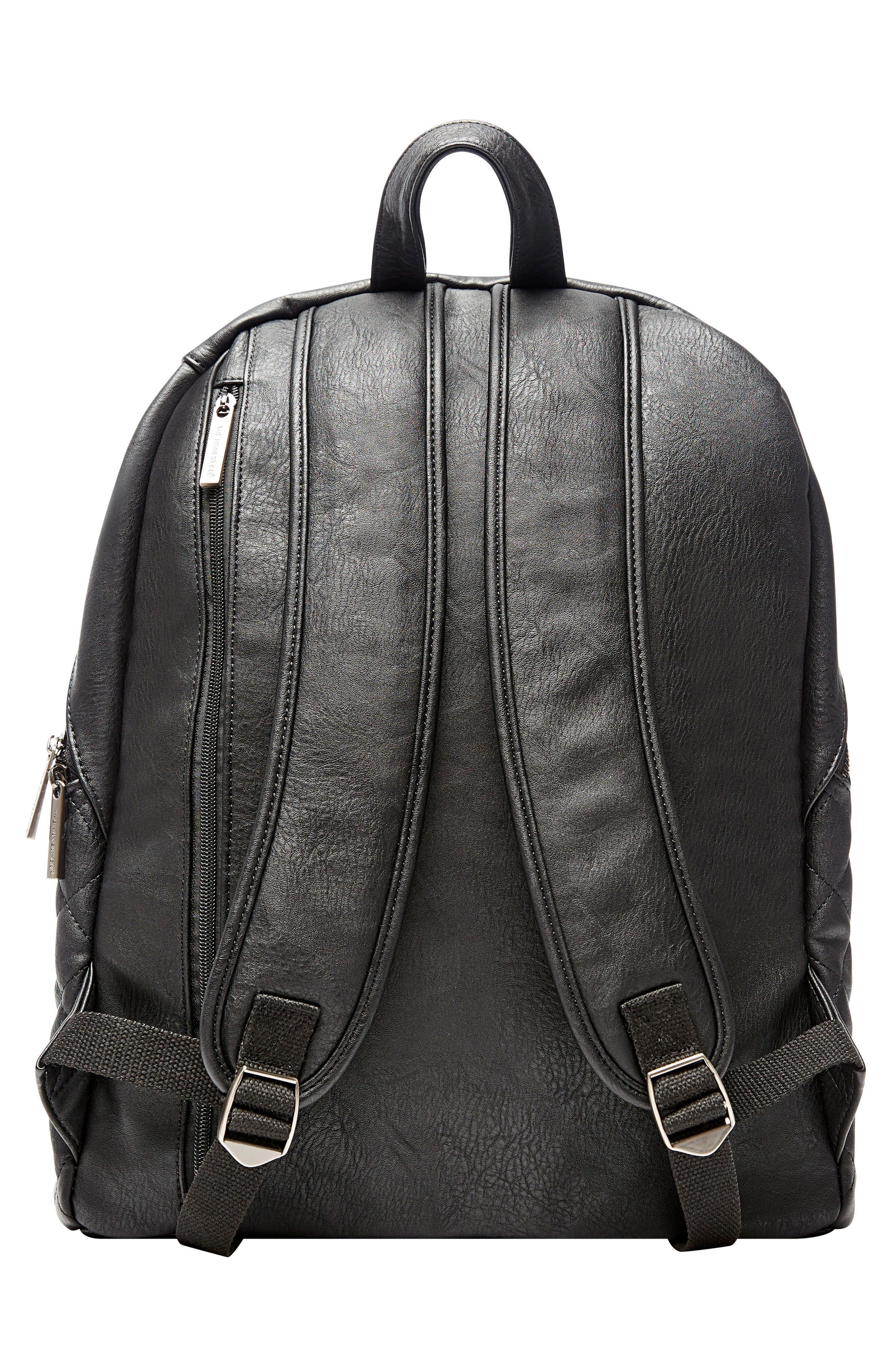 Alternate Image 2  - The Honest Company City Quilted Faux Leather Diaper Backpack