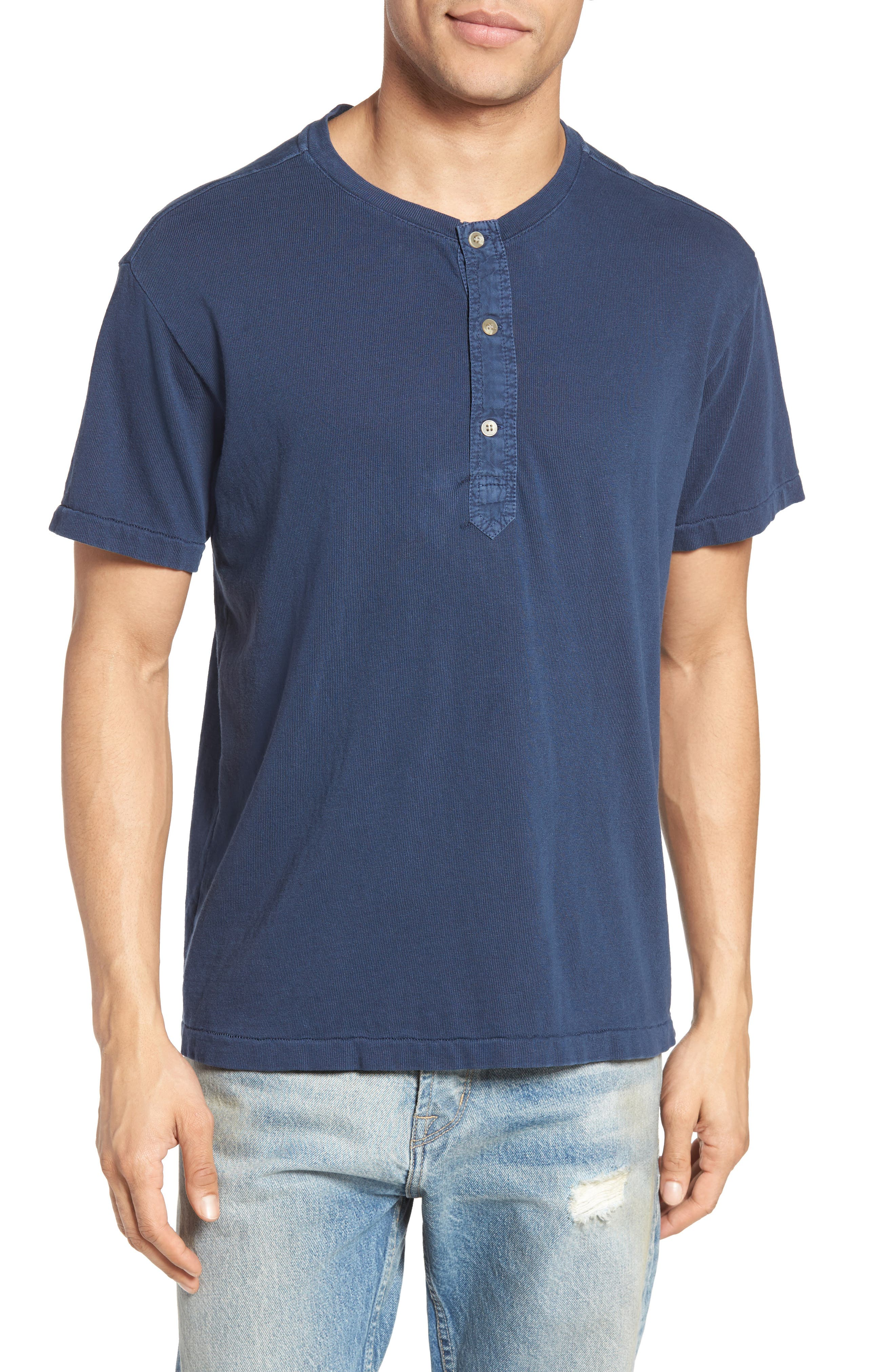 CURRENT/ELLIOTT Classic Fit Summer Henley
