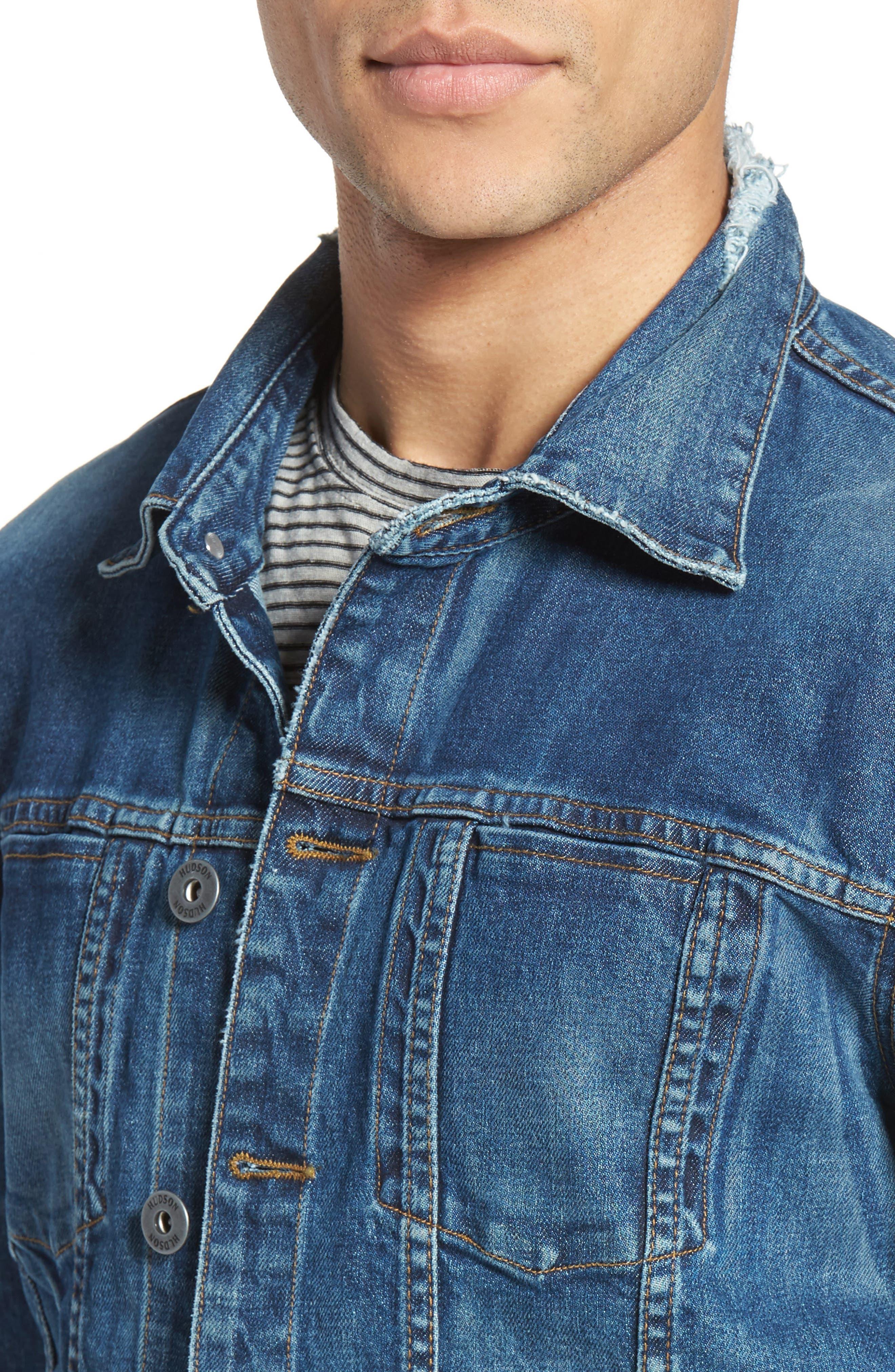Alternate Image 4  - Hudson Jeans Broc Denim Jacket