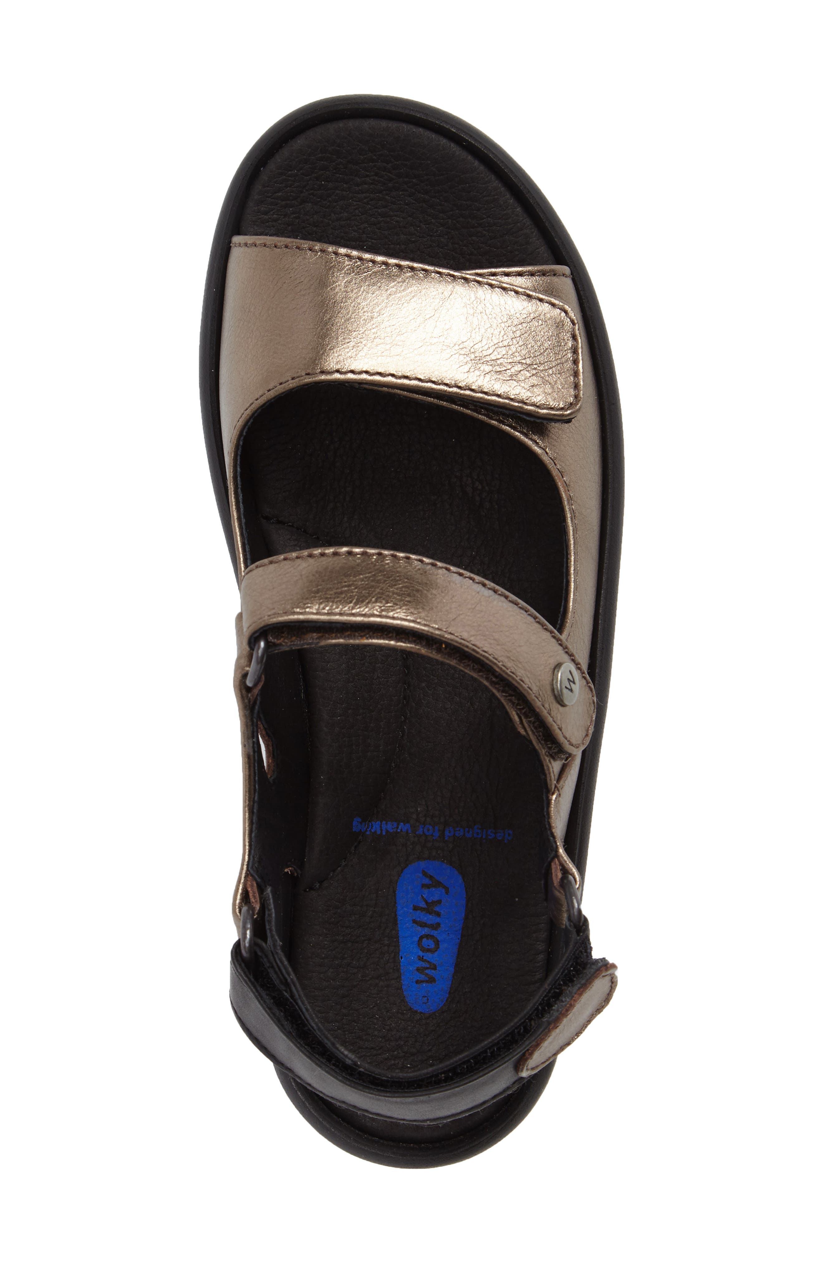 Rio Sandal,                             Alternate thumbnail 5, color,                             Bronze Metallic Leather