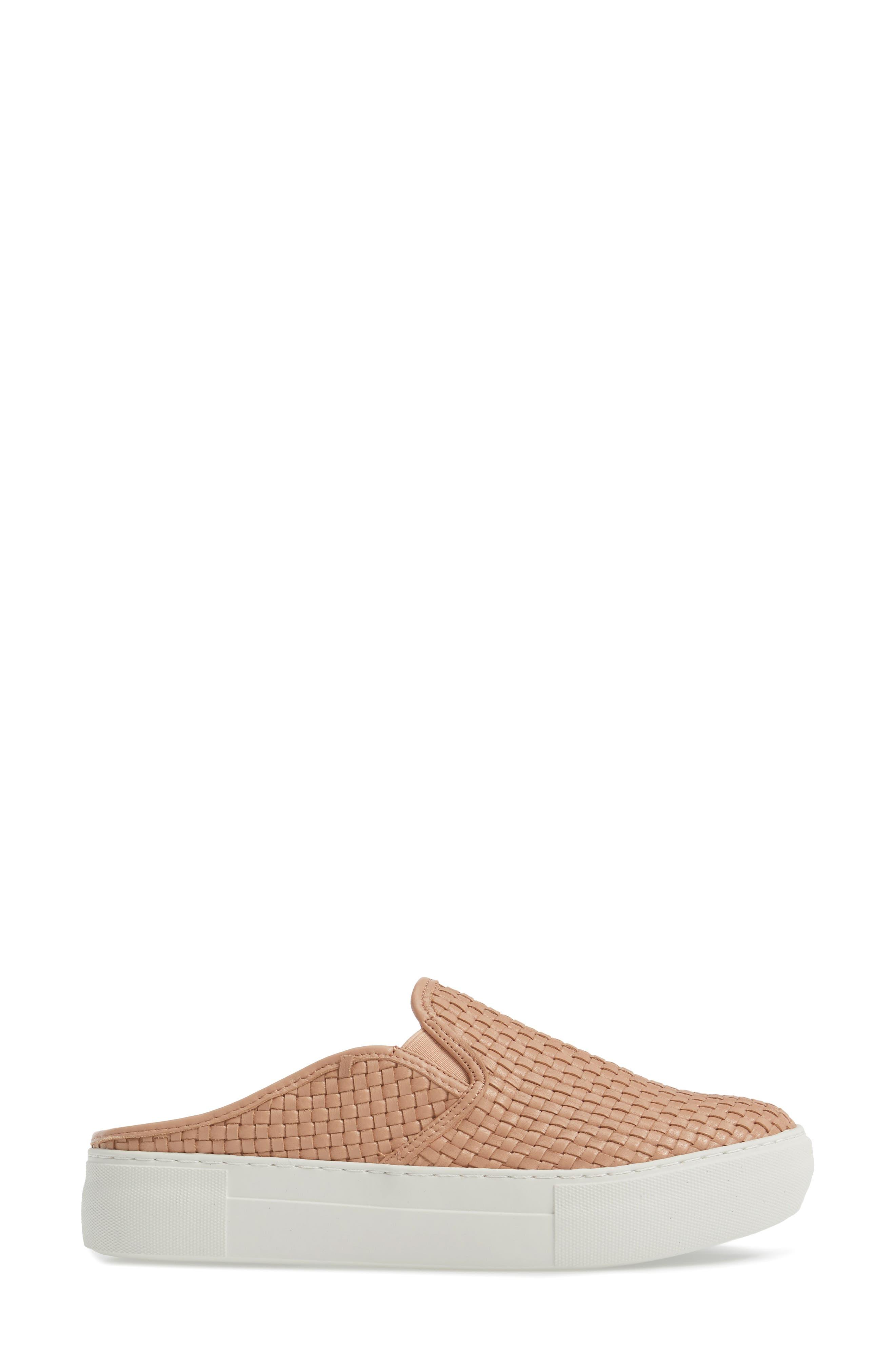Aubrey Woven Platform Mule,                             Alternate thumbnail 3, color,                             Blush Leather
