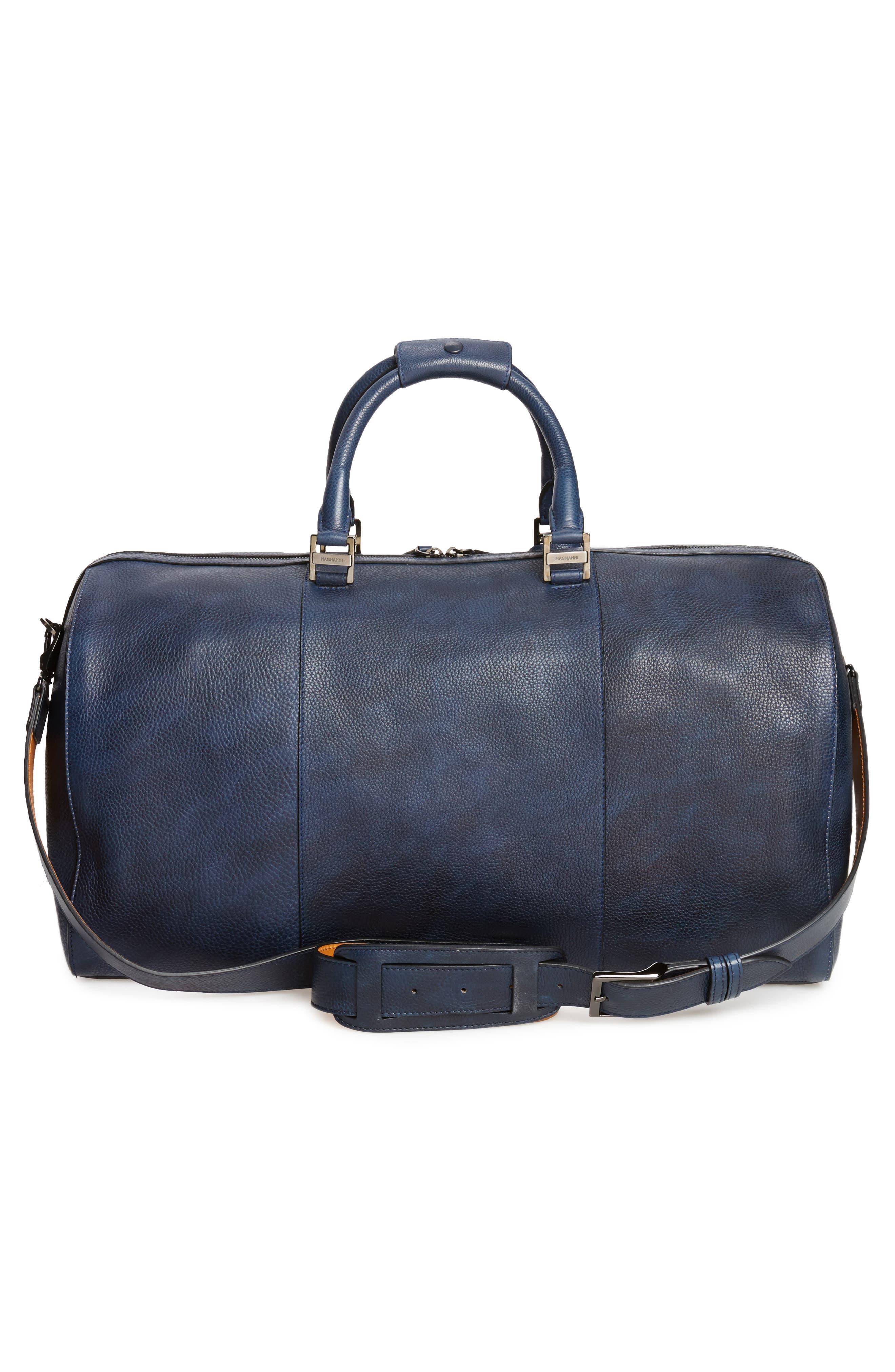 Alternate Image 3  - Magnanni Traveler Leather Duffel Bag