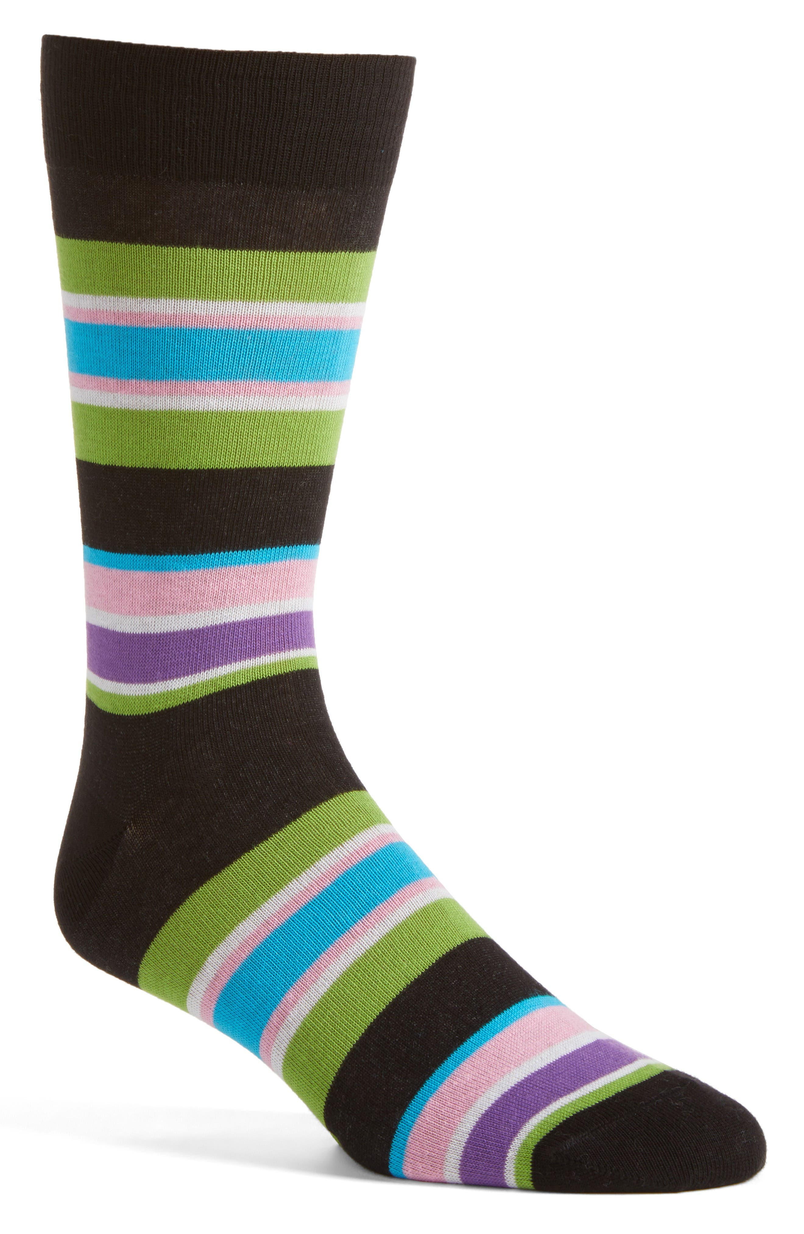 Lorenzo Uomo Rugby Block Stripe Crew Socks