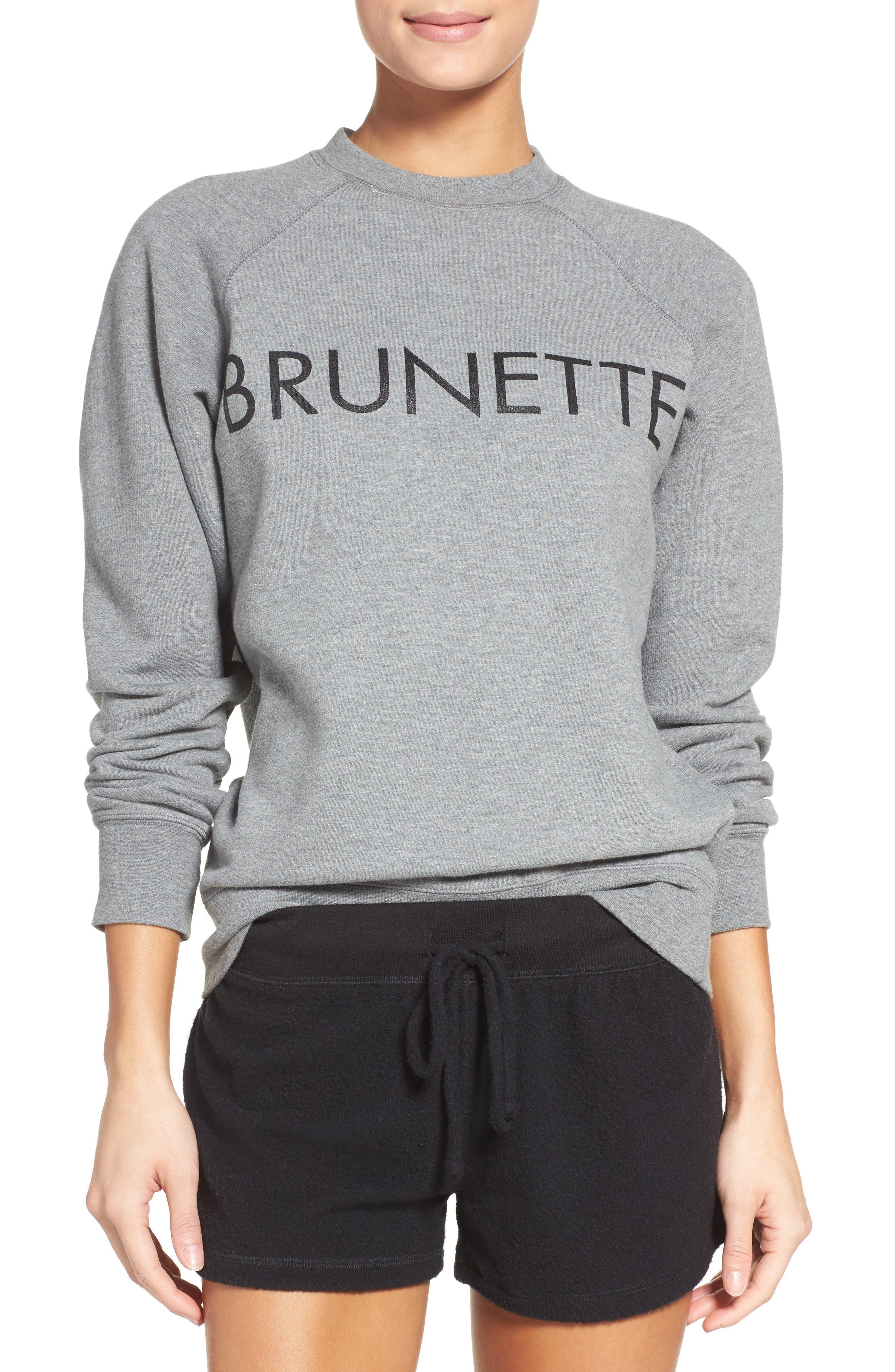 Brunette Crewneck Sweatshirt,                         Main,                         color, Grey