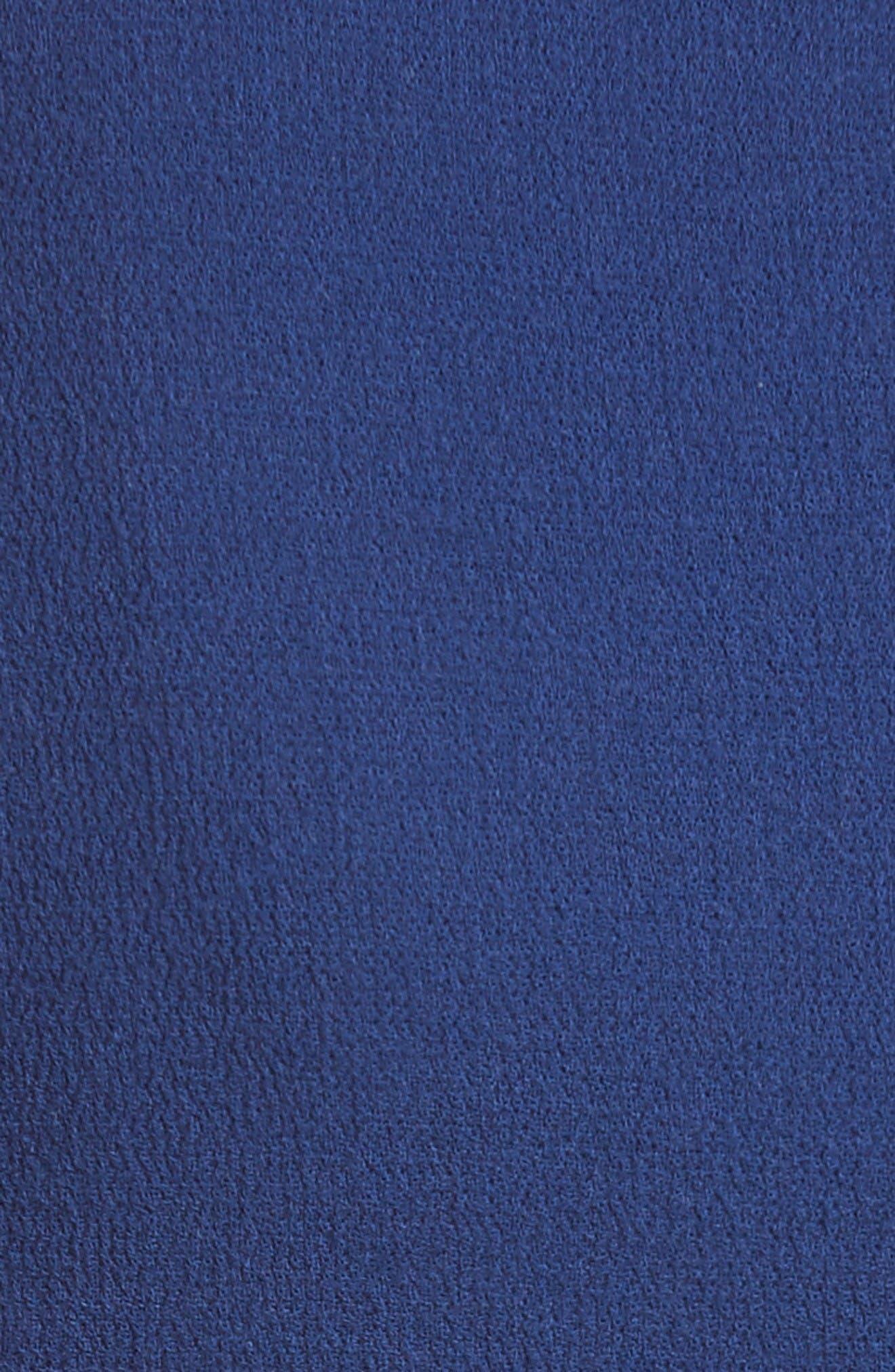 Double Crepe Peplum Jacket,                             Alternate thumbnail 3, color,                             Royal Blue