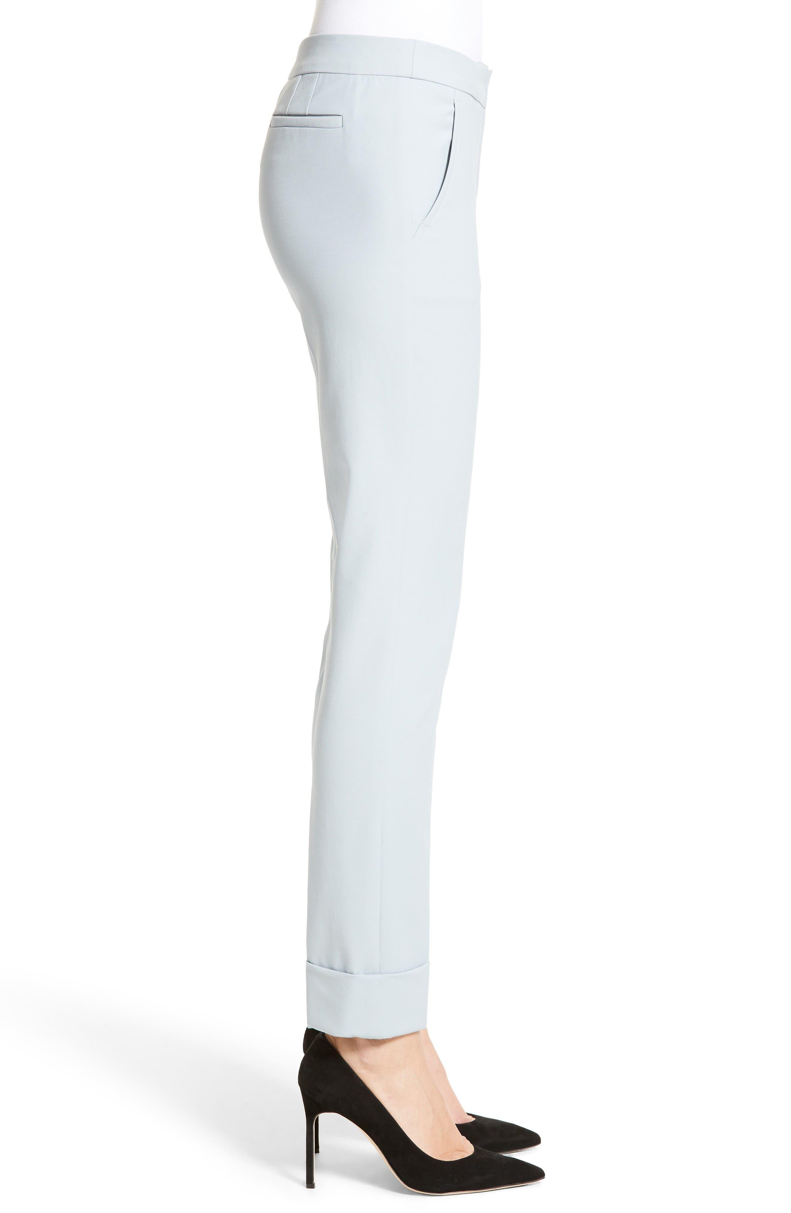 Armani Collezion Tech Cotton Cuff Pants,                             Alternate thumbnail 5, color,                             Cloud