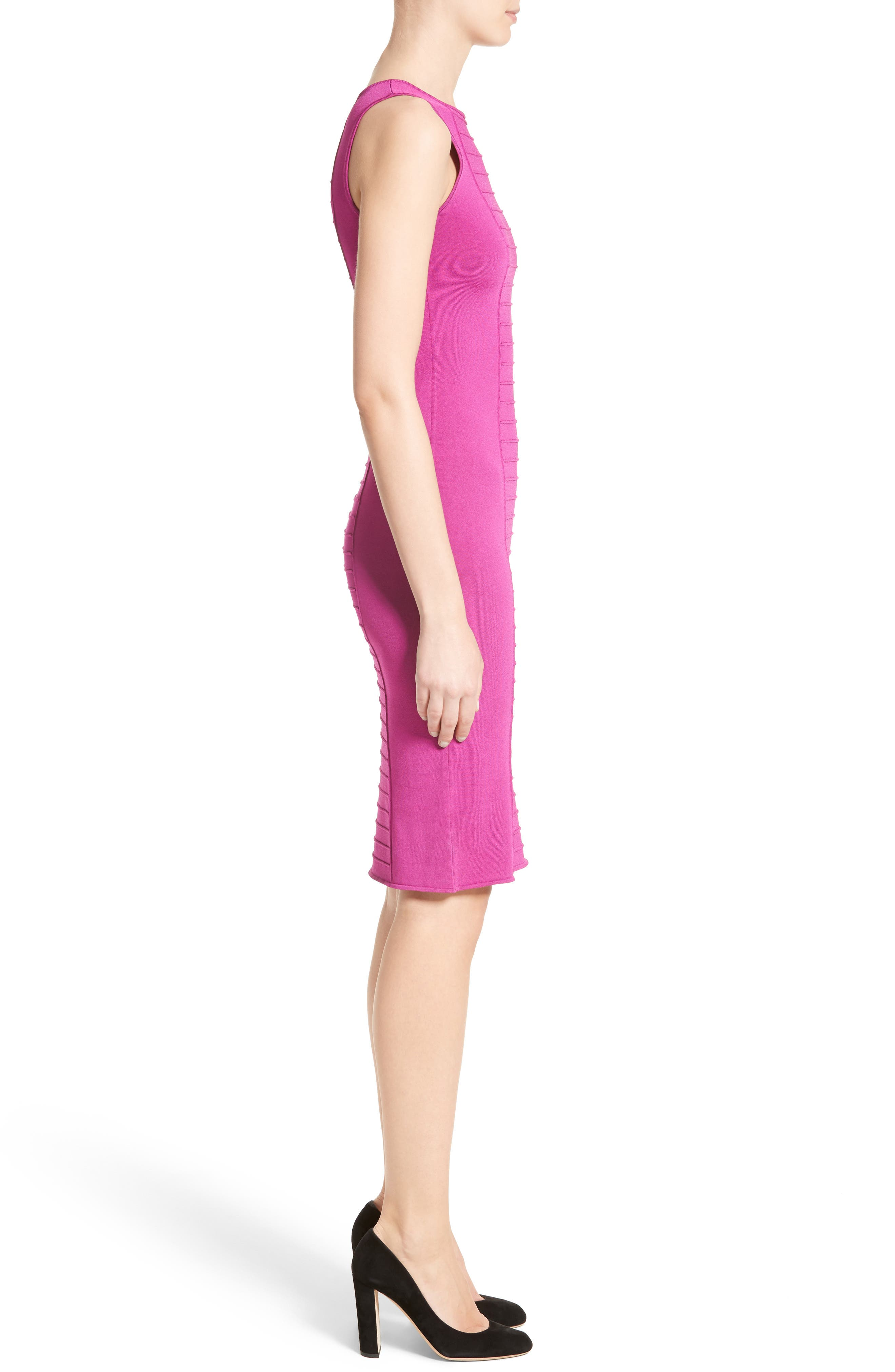 Micro Pipe Knit Dress,                             Alternate thumbnail 5, color,                             Orchid