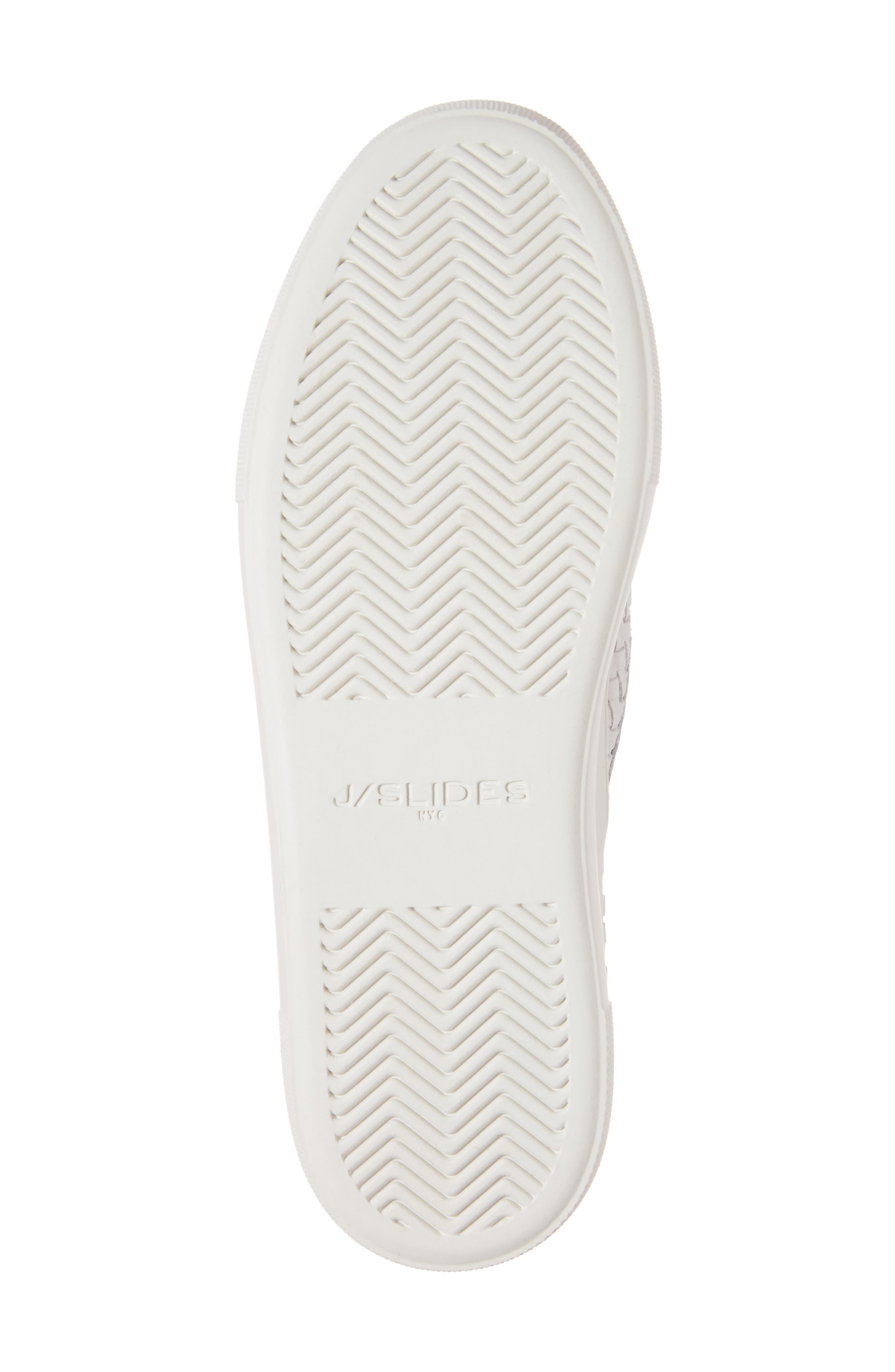 Alyssa Platform Slip-On Sneaker,                             Alternate thumbnail 6, color,                             White Leather