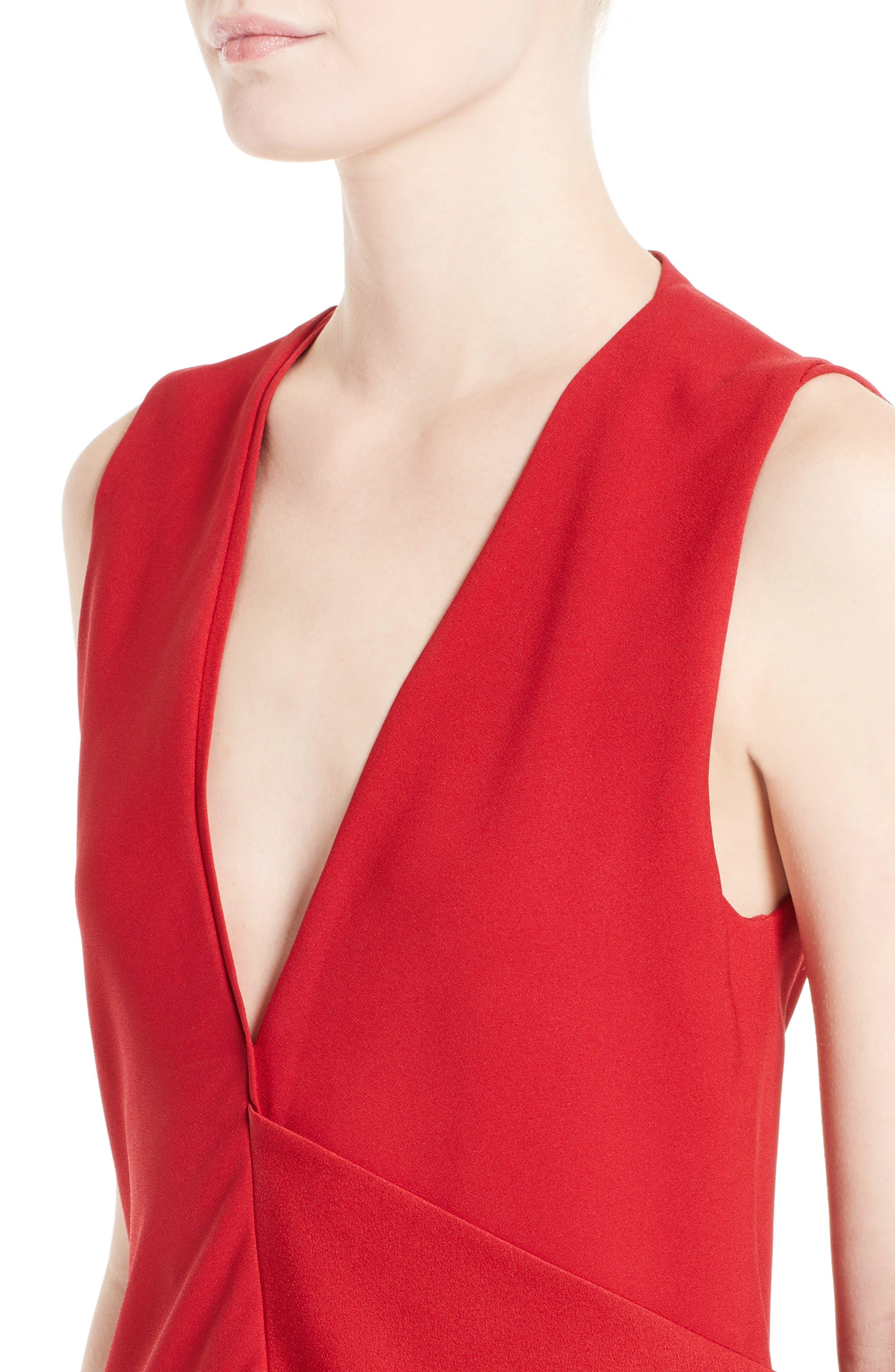 Alternate Image 5  - Victoria Beckham Satin Crepe Drape Top