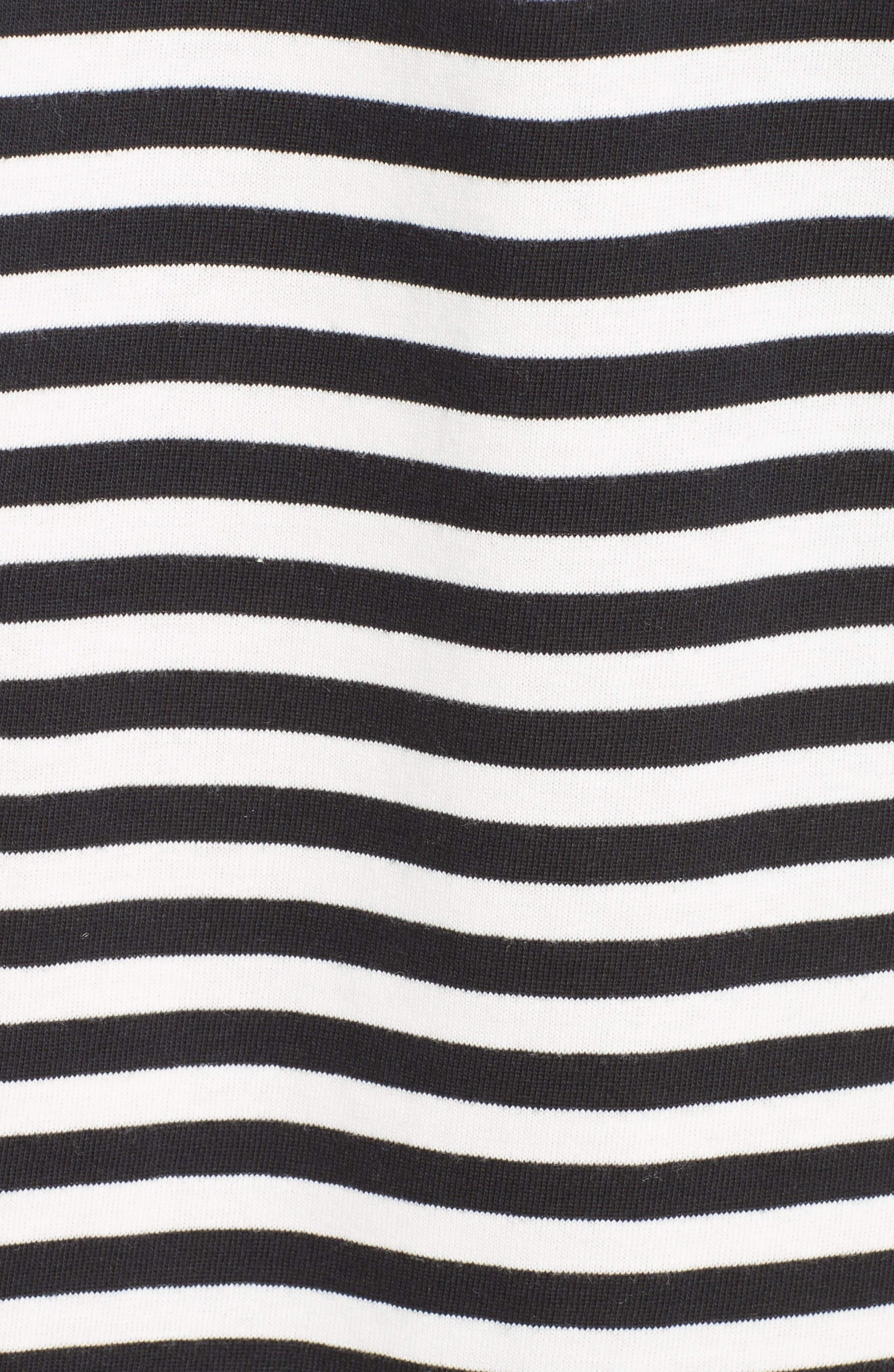 Alternate Image 5  - kate spade new york stripe knit off the shoulder dress