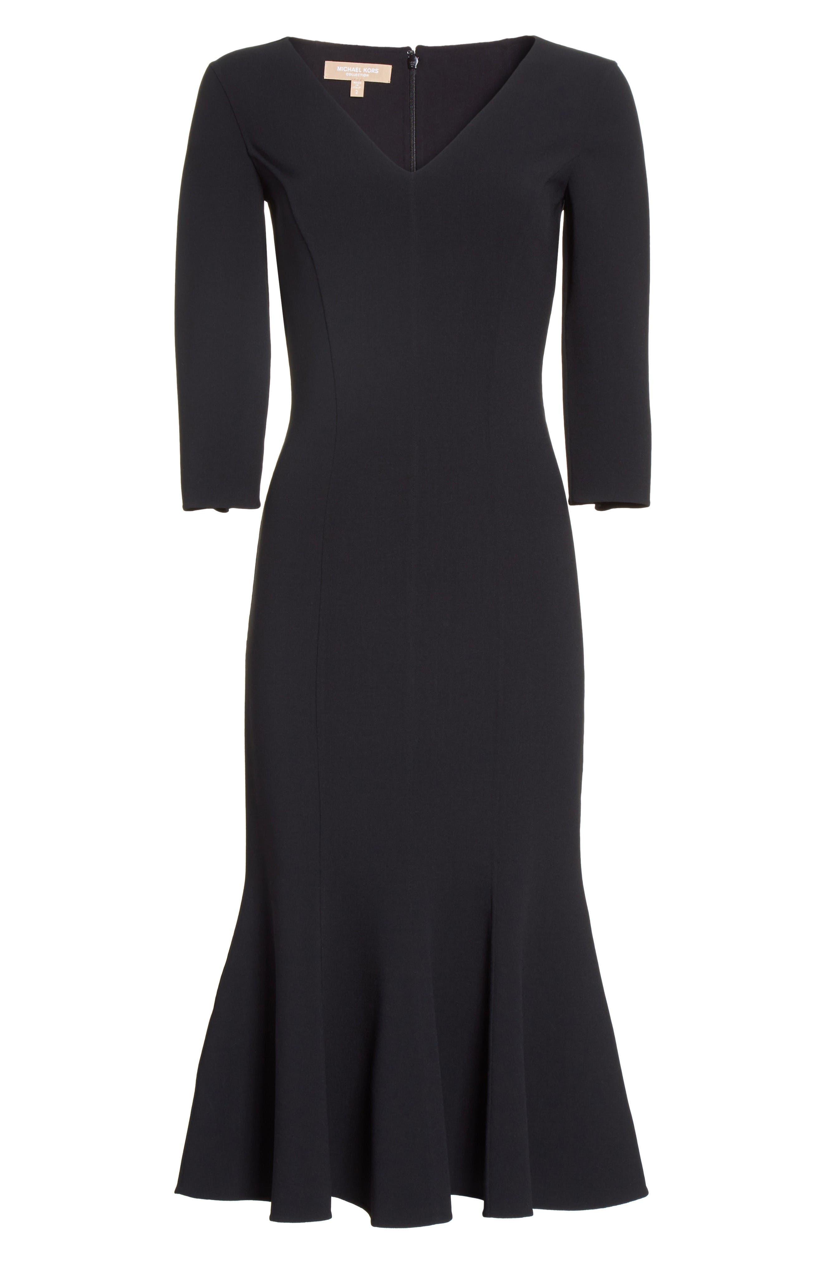 Alternate Image 4  - Michael Kors Stretch Wool Crepe Flounce Dress