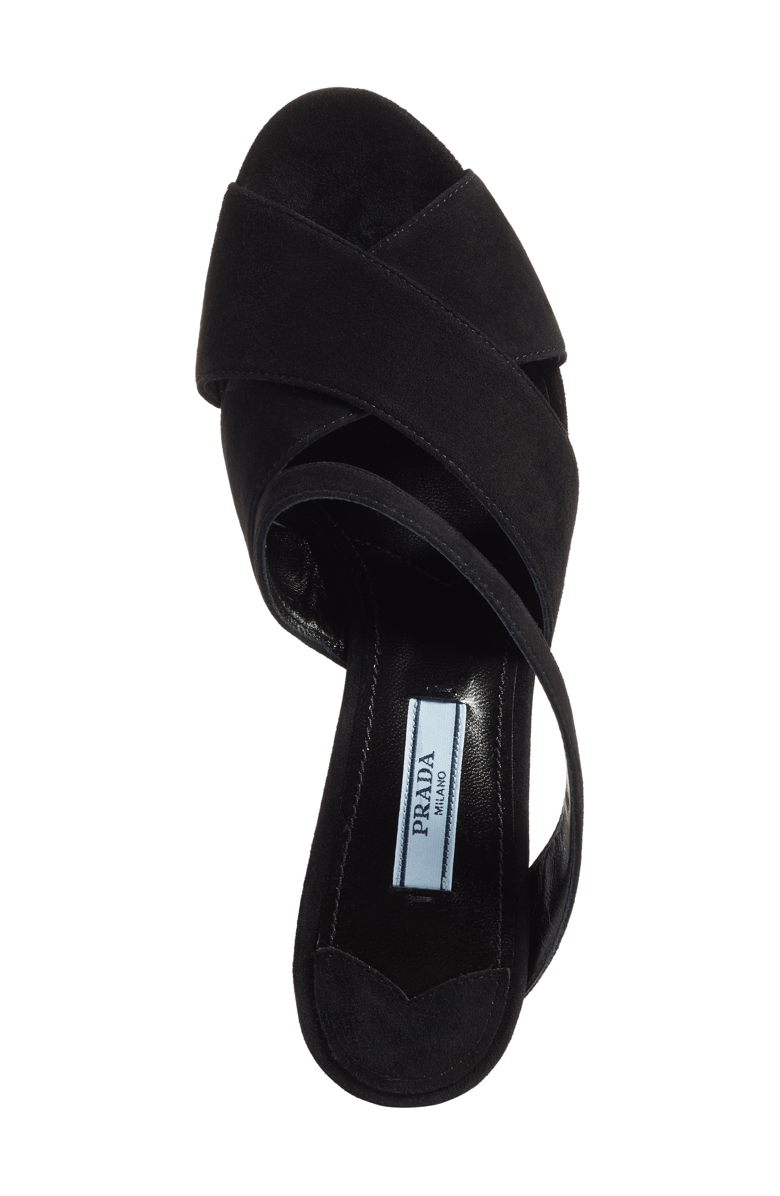 Strappy Sandal,                             Alternate thumbnail 5, color,                             Black
