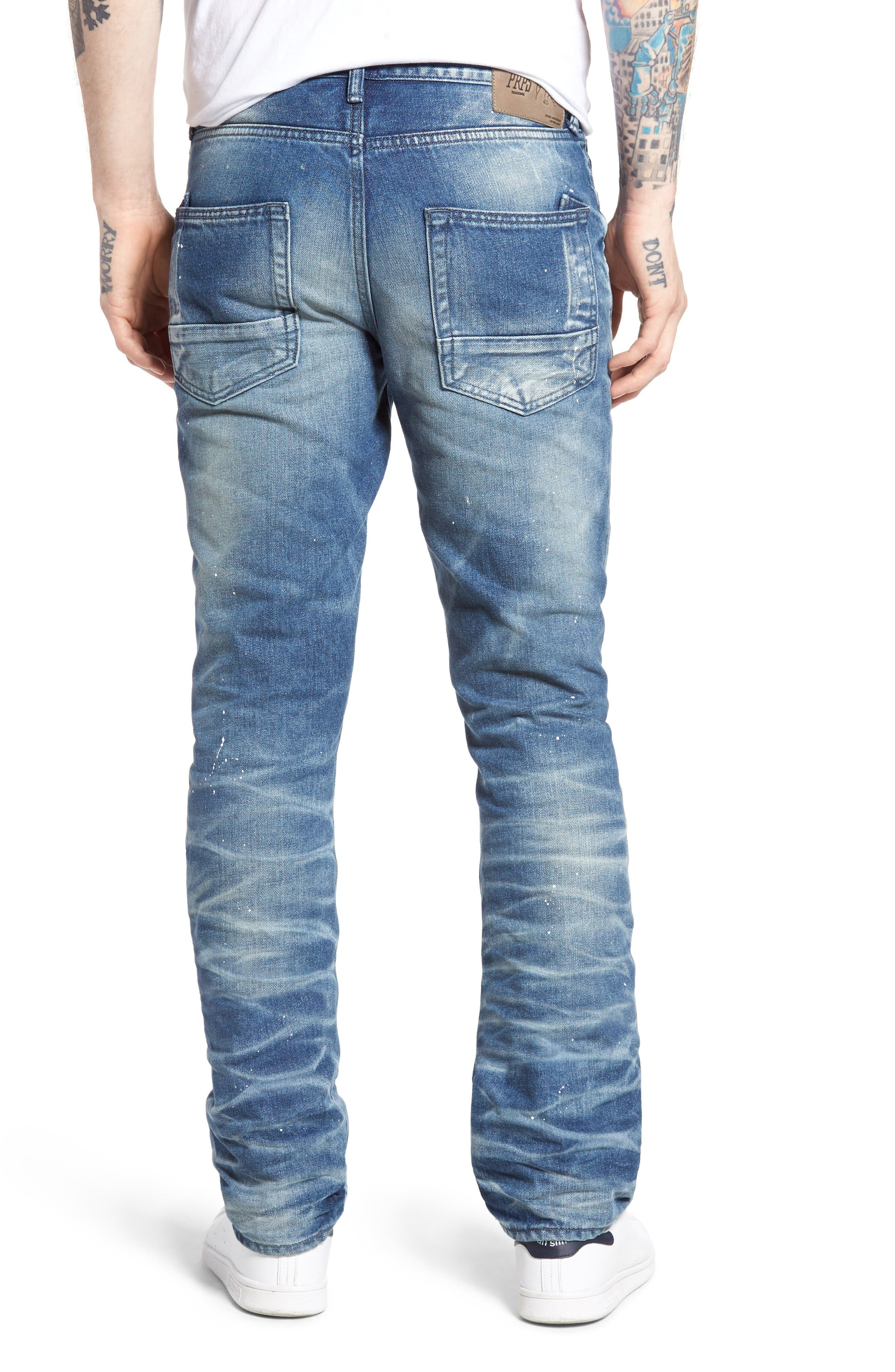 Demon Slim Straight Leg Jeans,                             Alternate thumbnail 2, color,                             Mediam