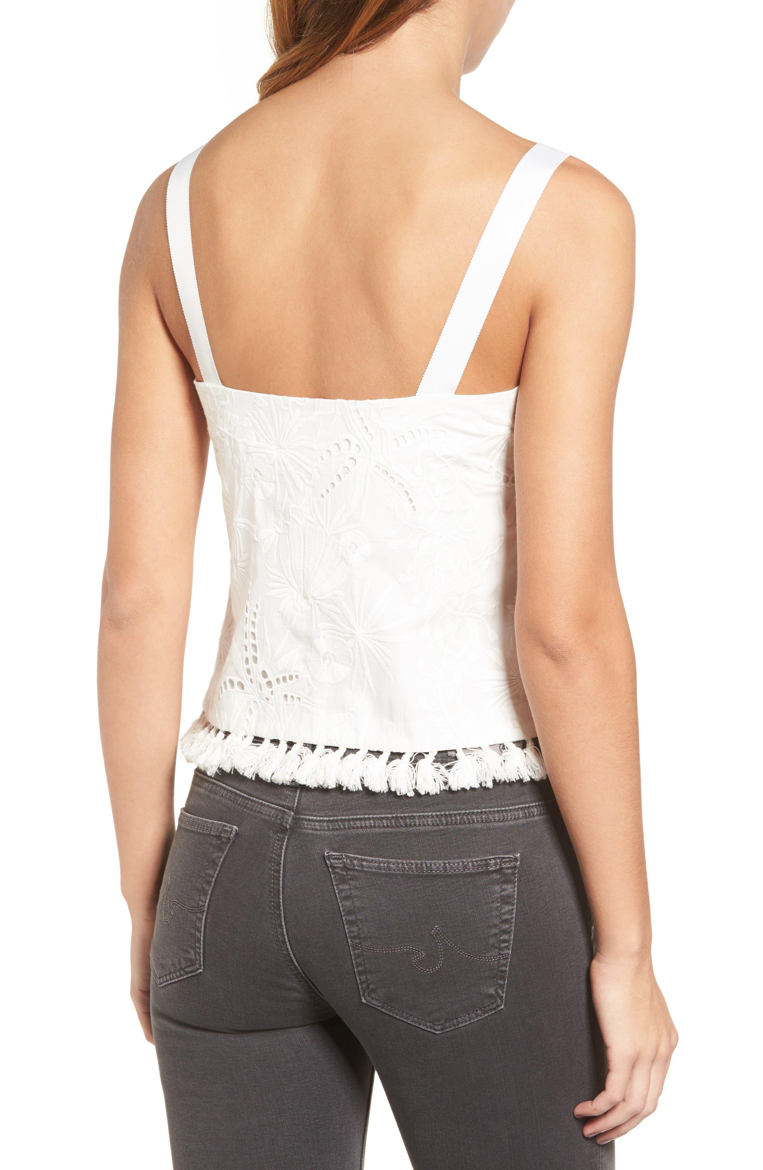 Alternate Image 2  - cooper & ella Camila Embroidered Cotton Tank