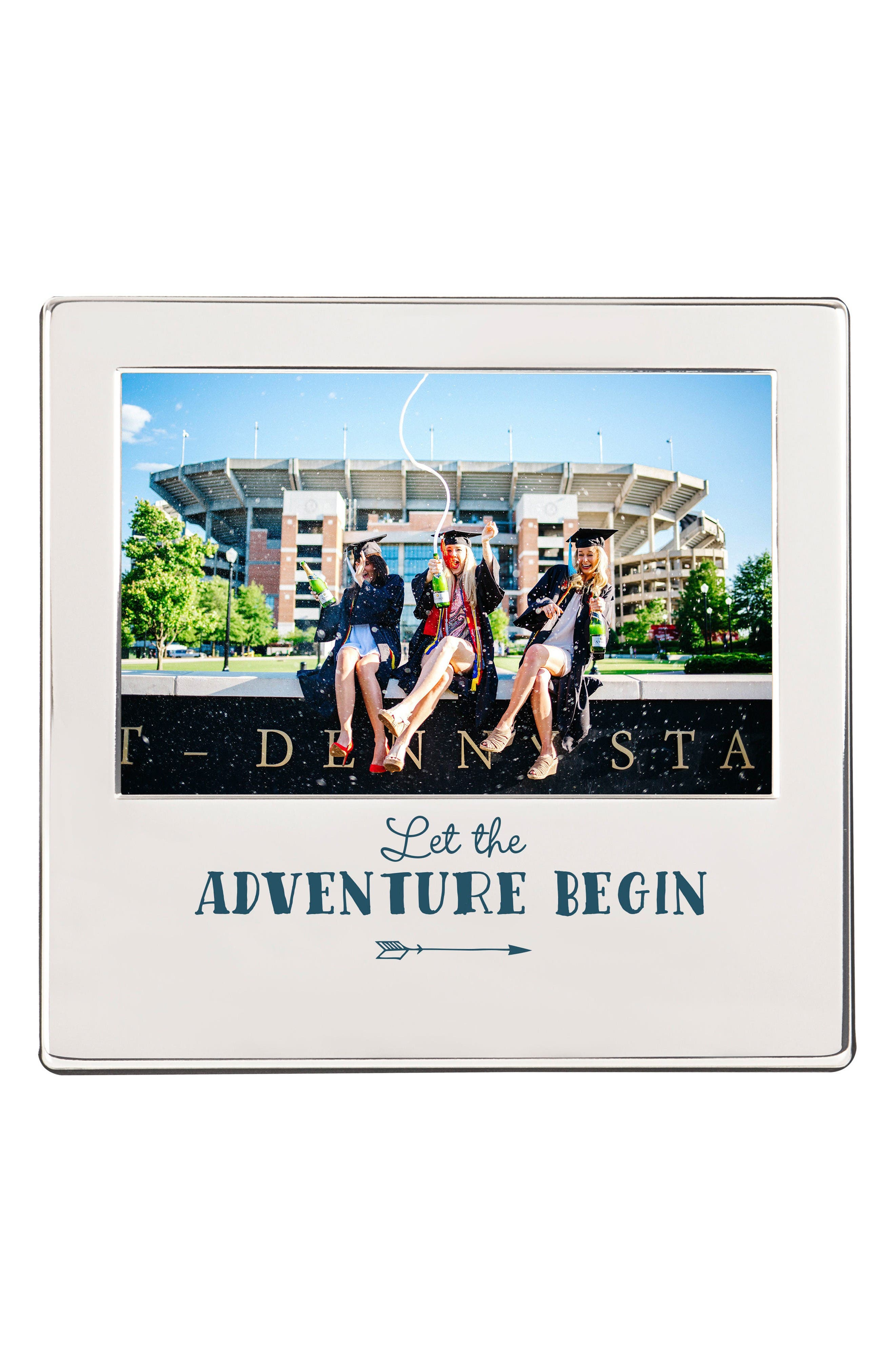Graduation Silver Picture Frame,                             Main thumbnail 1, color,                             Metallic Silver