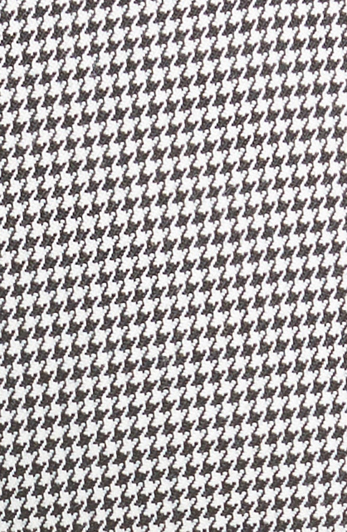 Samantha Houndstooth Pants,                             Alternate thumbnail 3, color,                             Black/ White