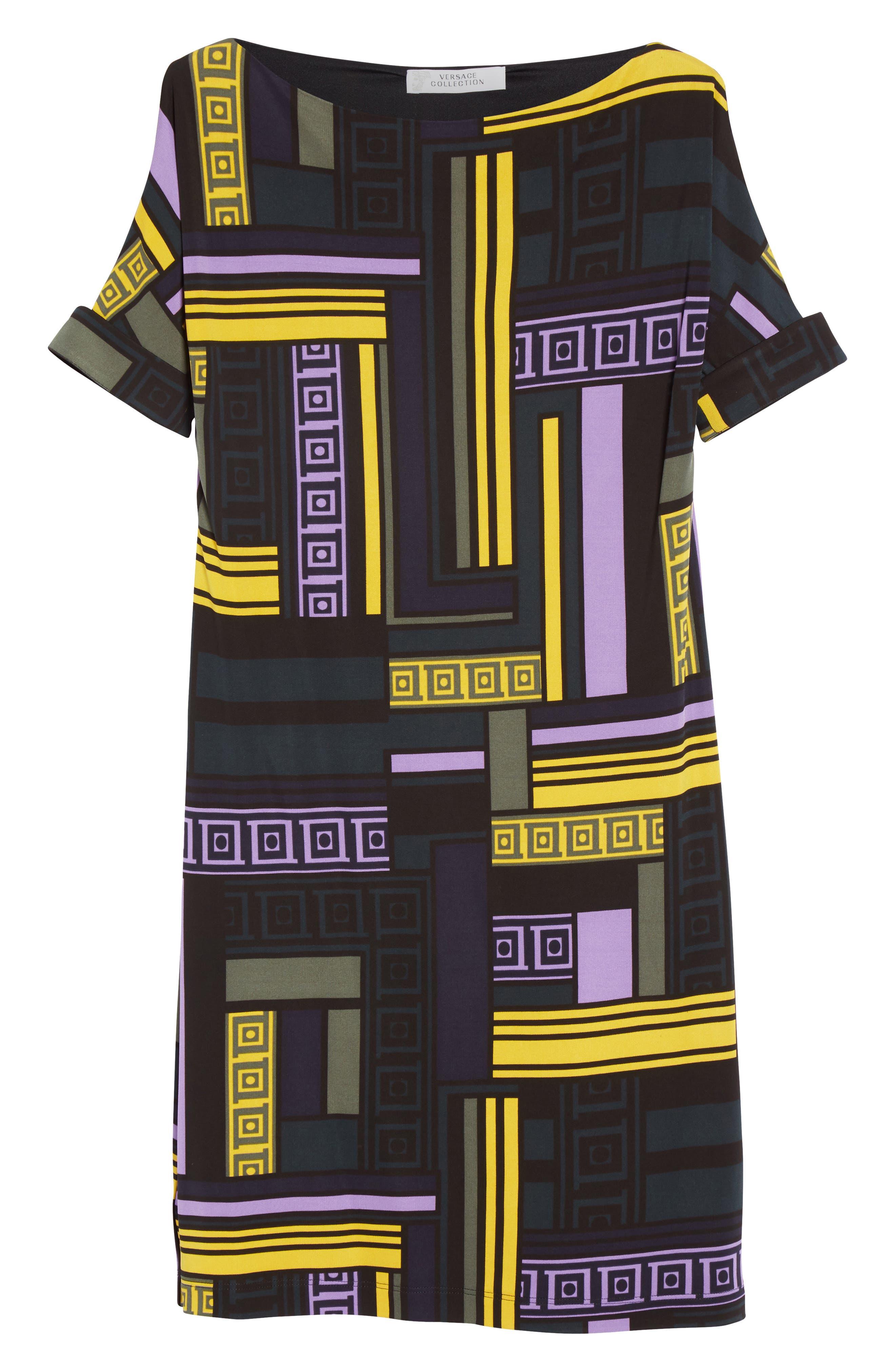 Alternate Image 4  - Versace Collection Cold Shoulder Print Jersey Dress
