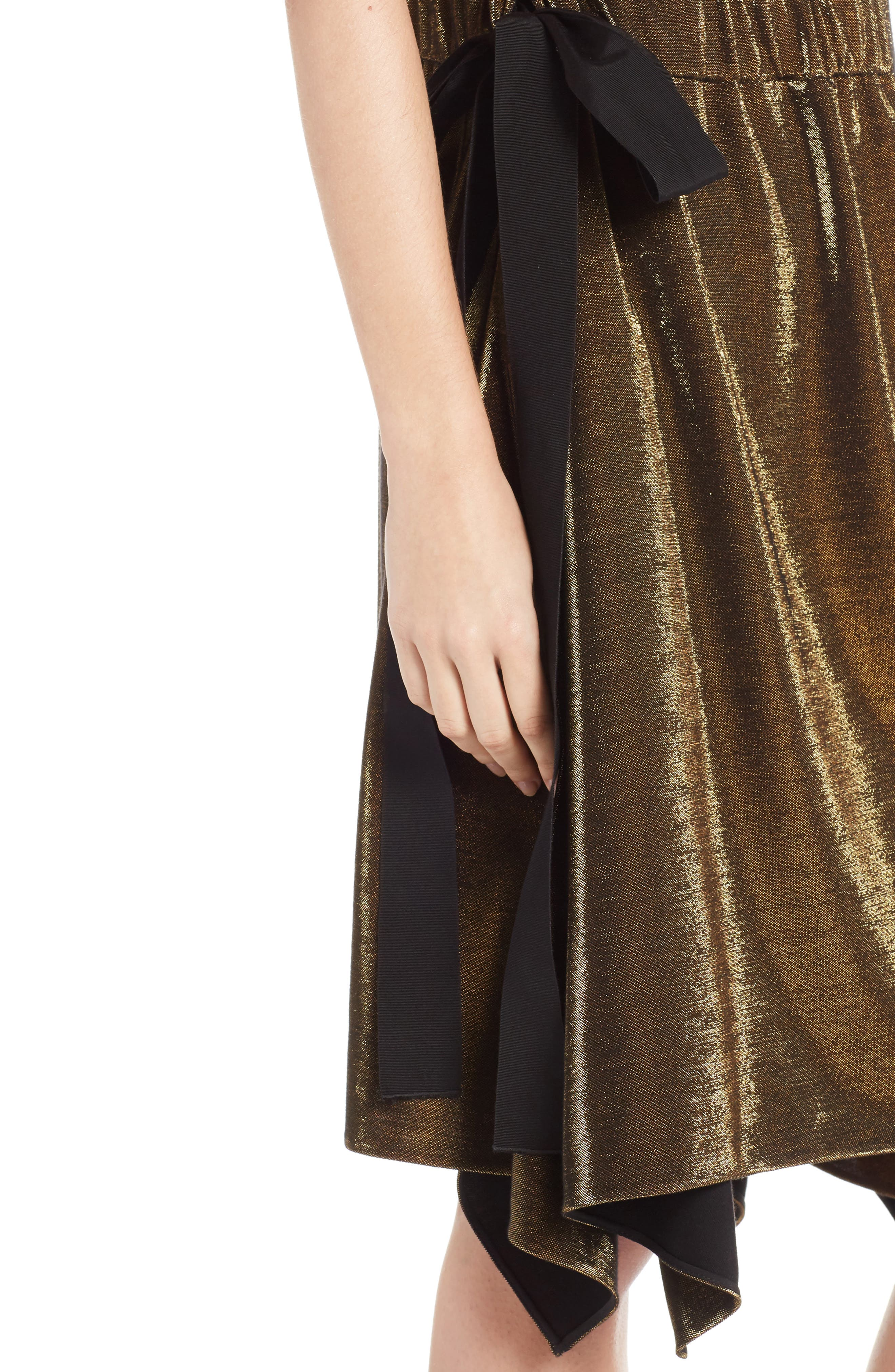 Alternate Image 6  - Fendi Metallic Jersey Halter Dress