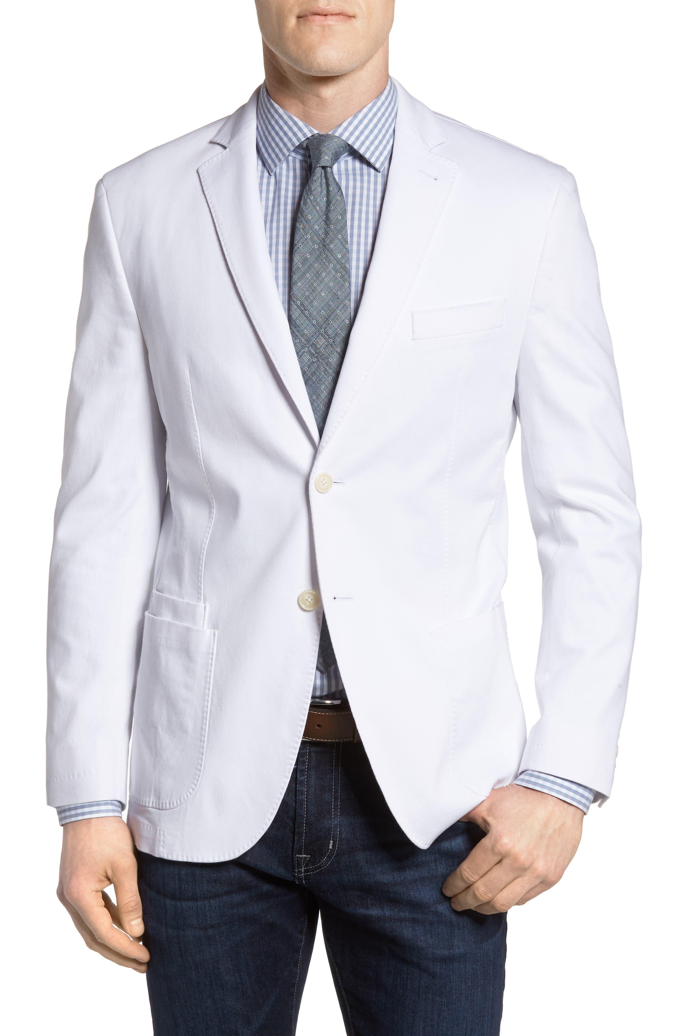 JKT New York Trim Fit Stretch Cotton Blazer