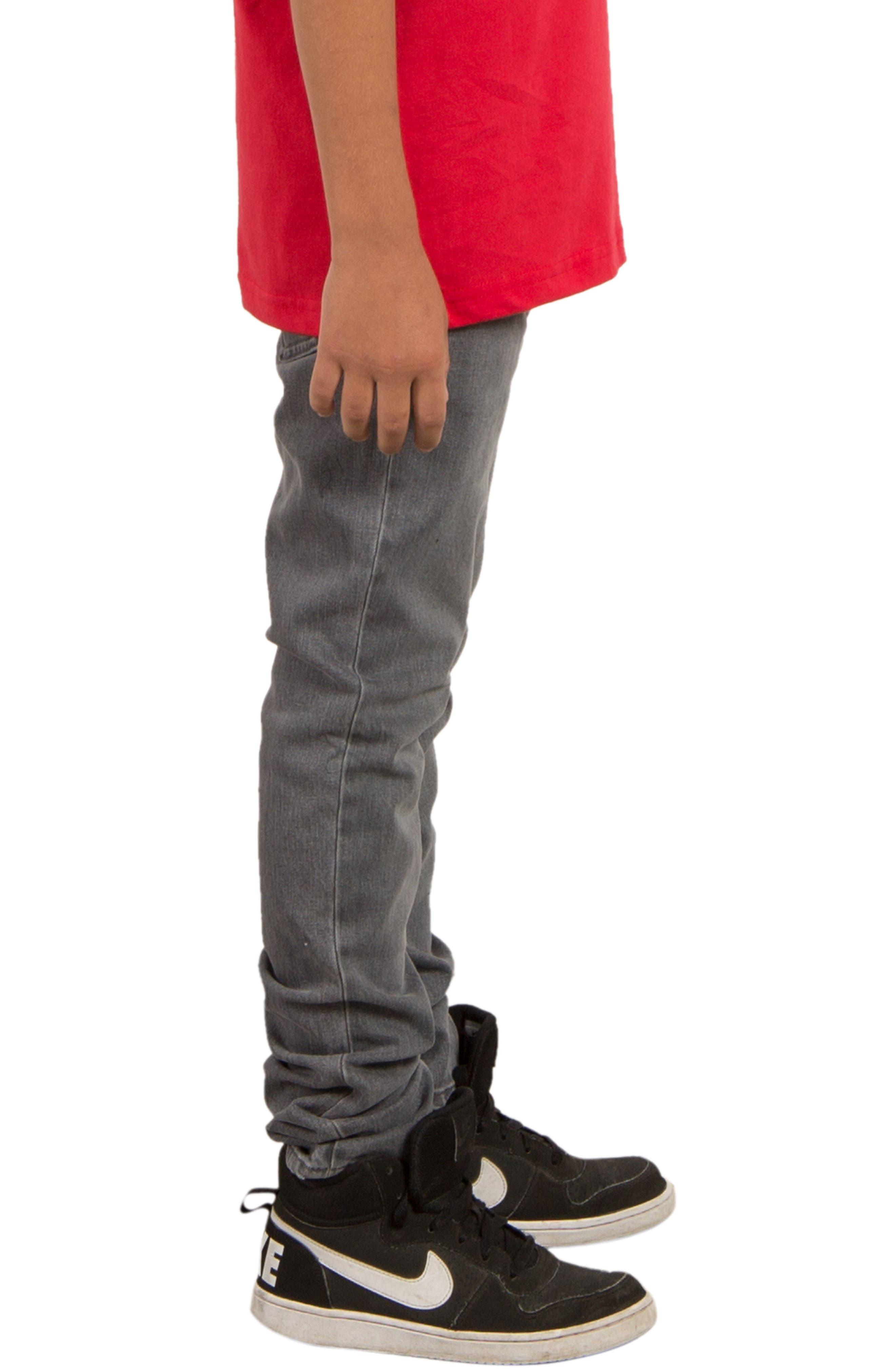 'Solver' Straight Leg Denim Jeans,                             Alternate thumbnail 3, color,                             Power Grey