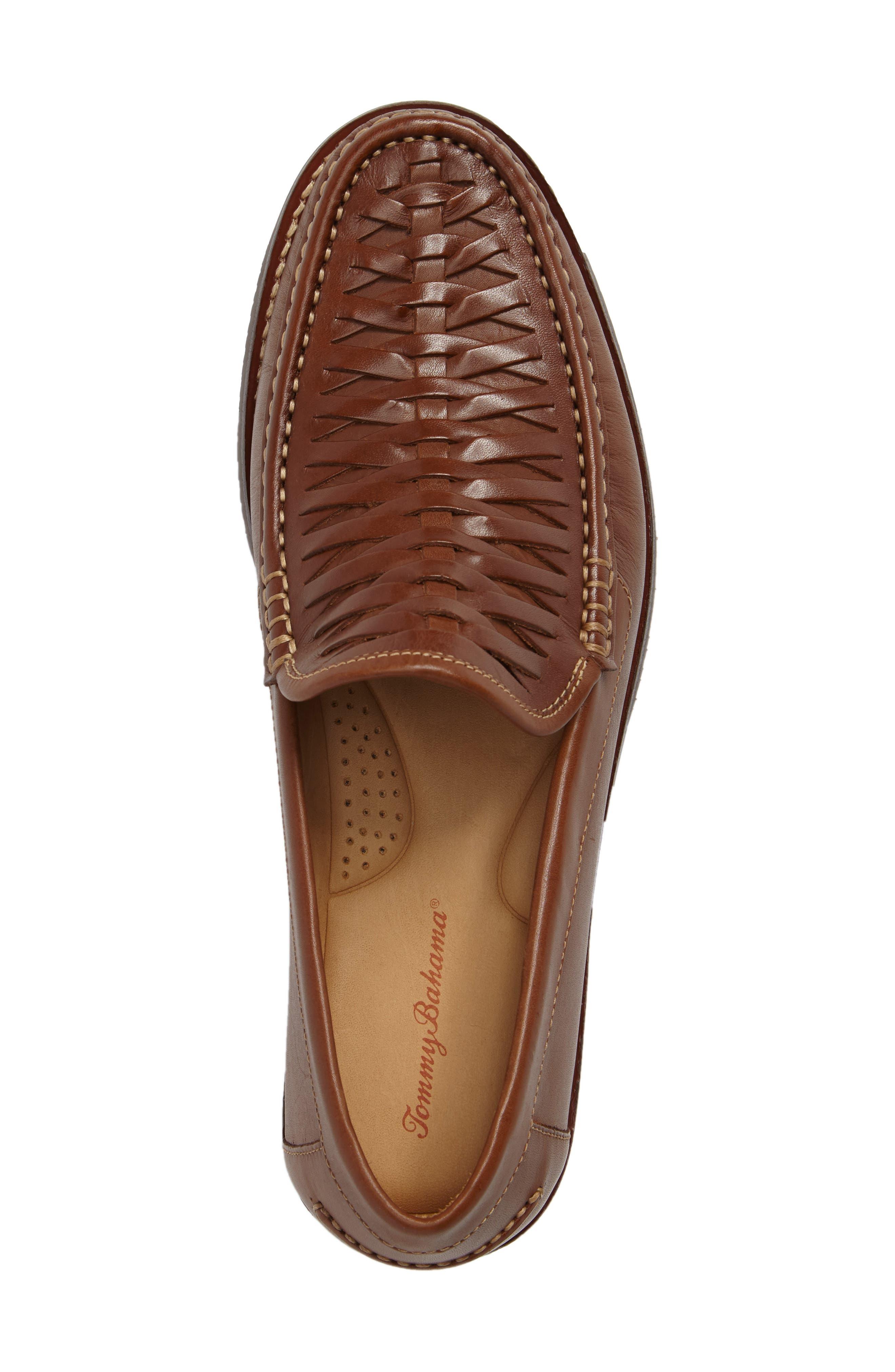 Fynn Loafer,                             Alternate thumbnail 5, color,                             Saddle Brown Leather