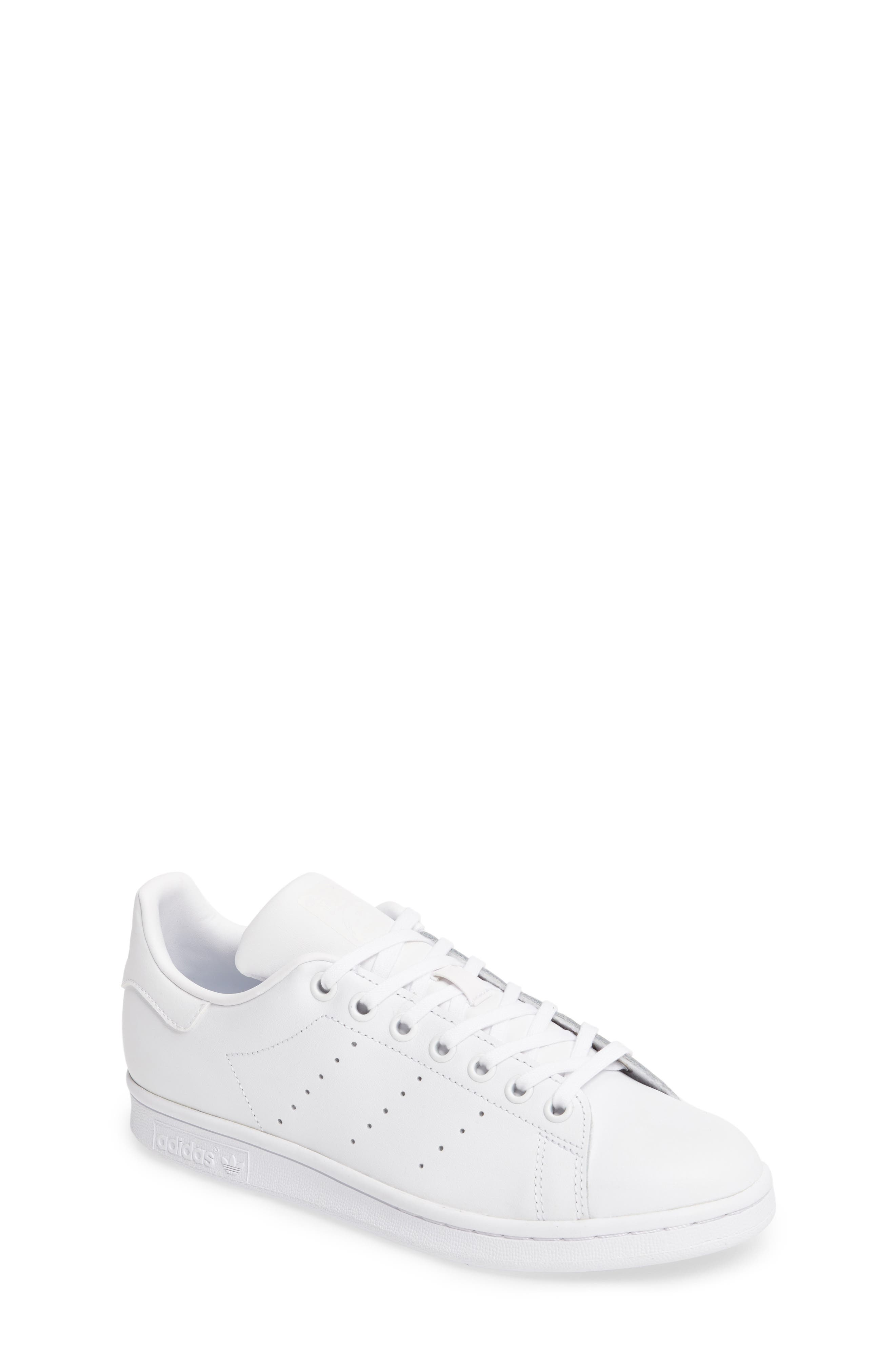 Main Image - adidas \u0027Stan Smith\u0027 Leather Sneaker (Big Kid)