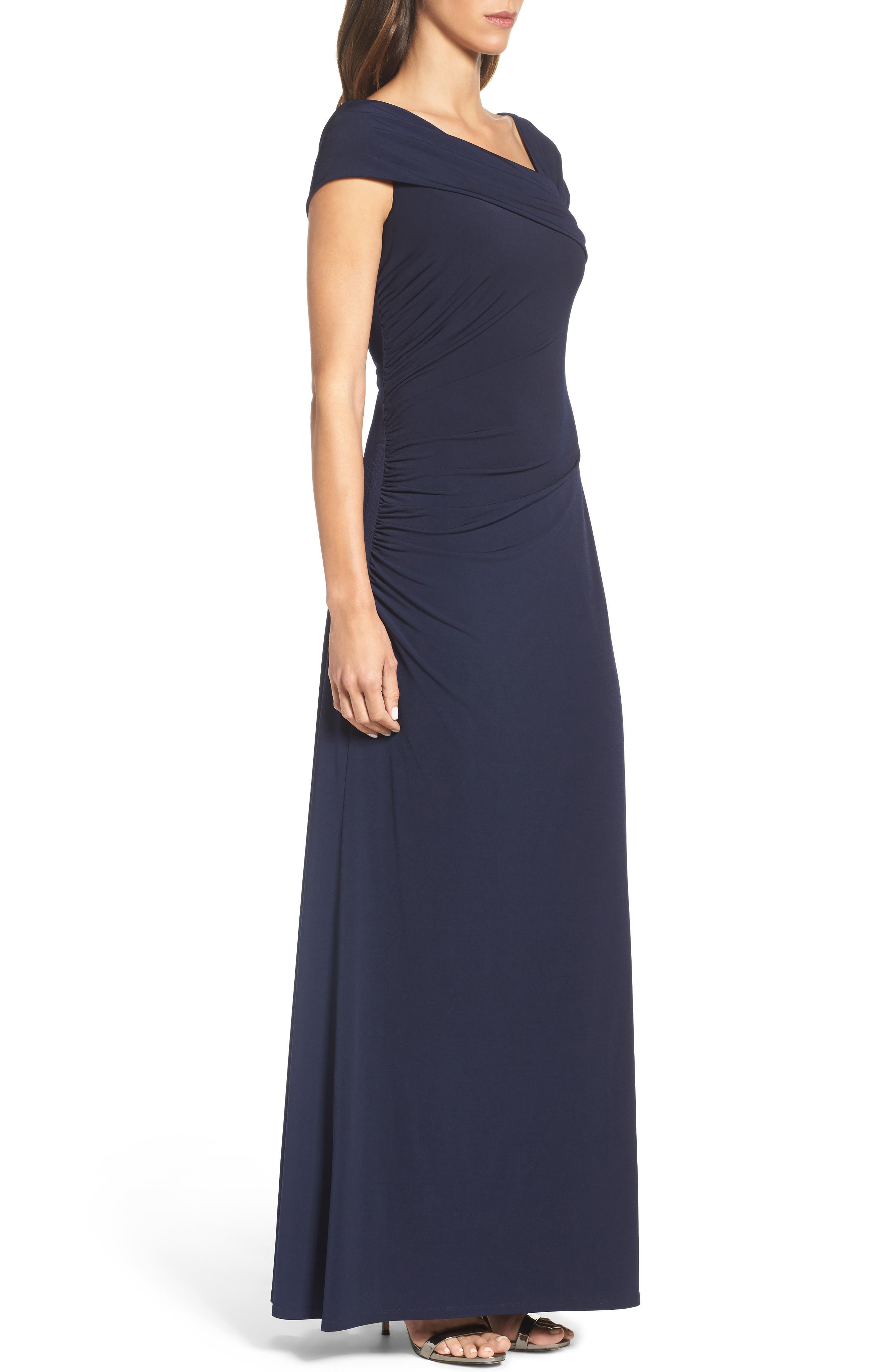 Jersey Gown,                             Alternate thumbnail 3, color,                             Navy