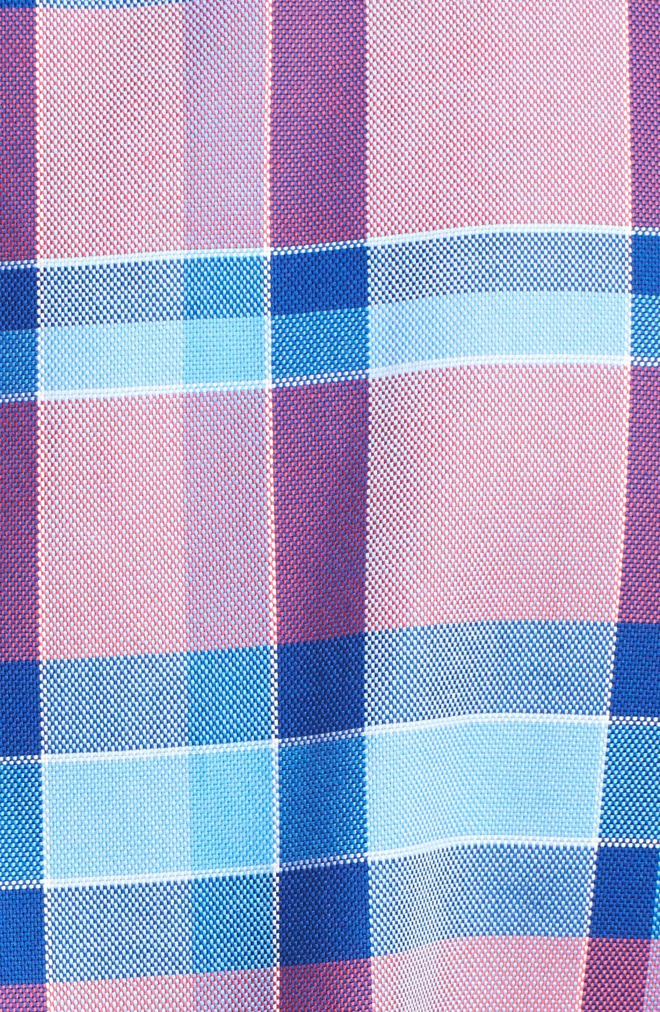 Alternate Image 5  - Tailorbyrd Redwood Plaid Sport Shirt