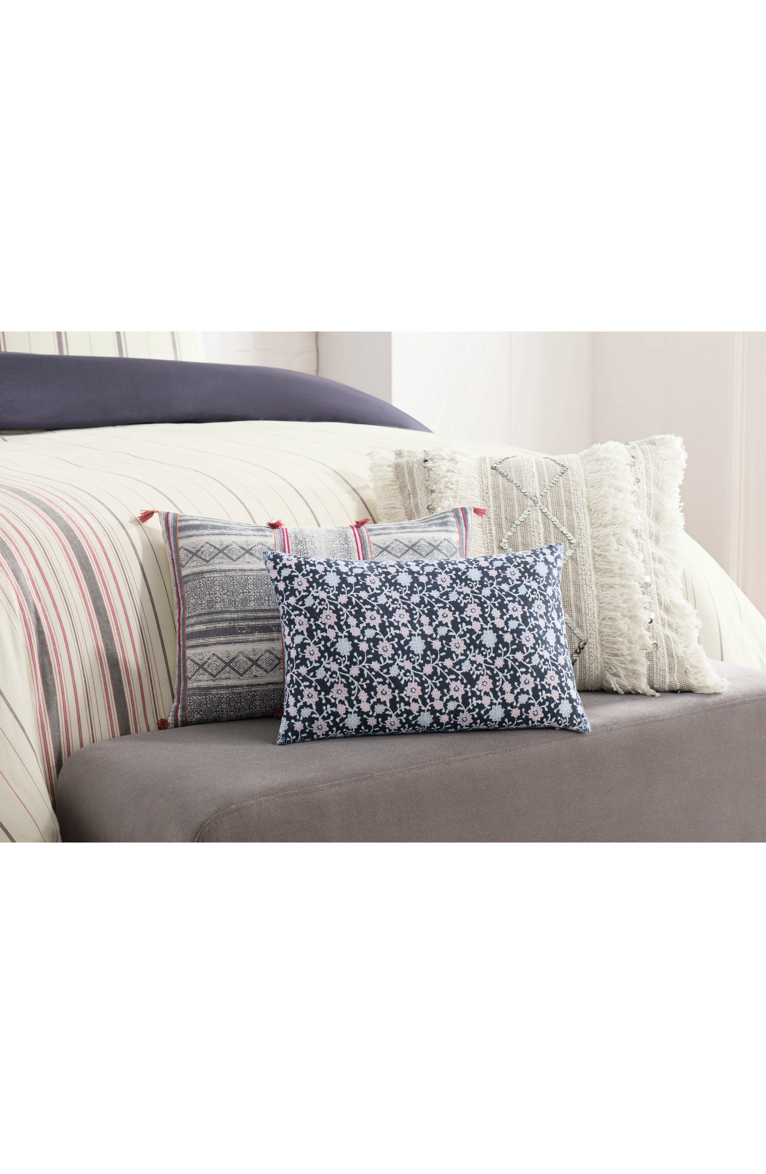 Alternate Image 2  - cupcakes and cashmere Floral Print Accent Pillow