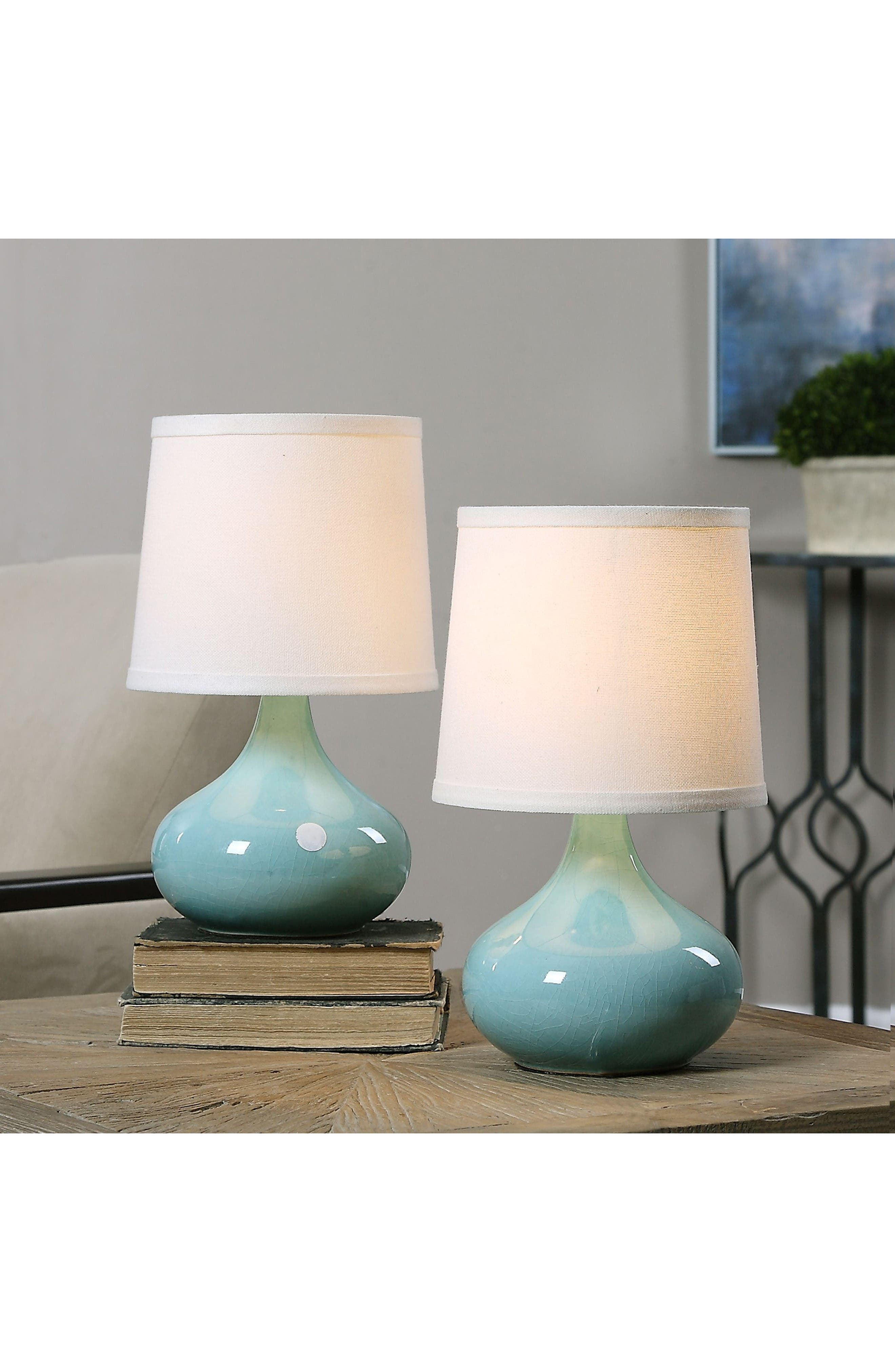 Gabbiano Set of 2 Table Lamps,                             Alternate thumbnail 2, color,                             Blue