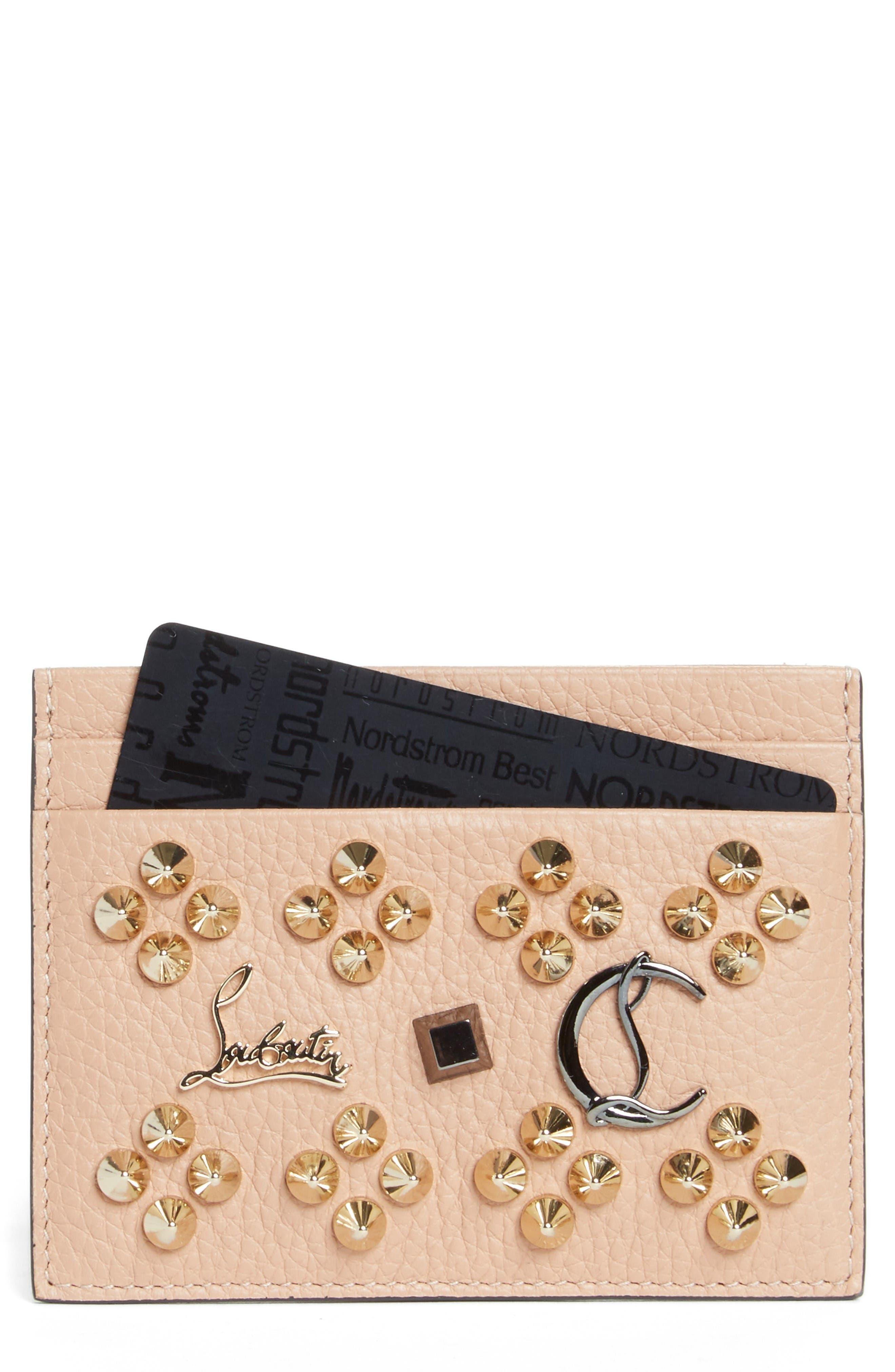 Main Image - Christian Louboutin Kios Simple Leather Card Case