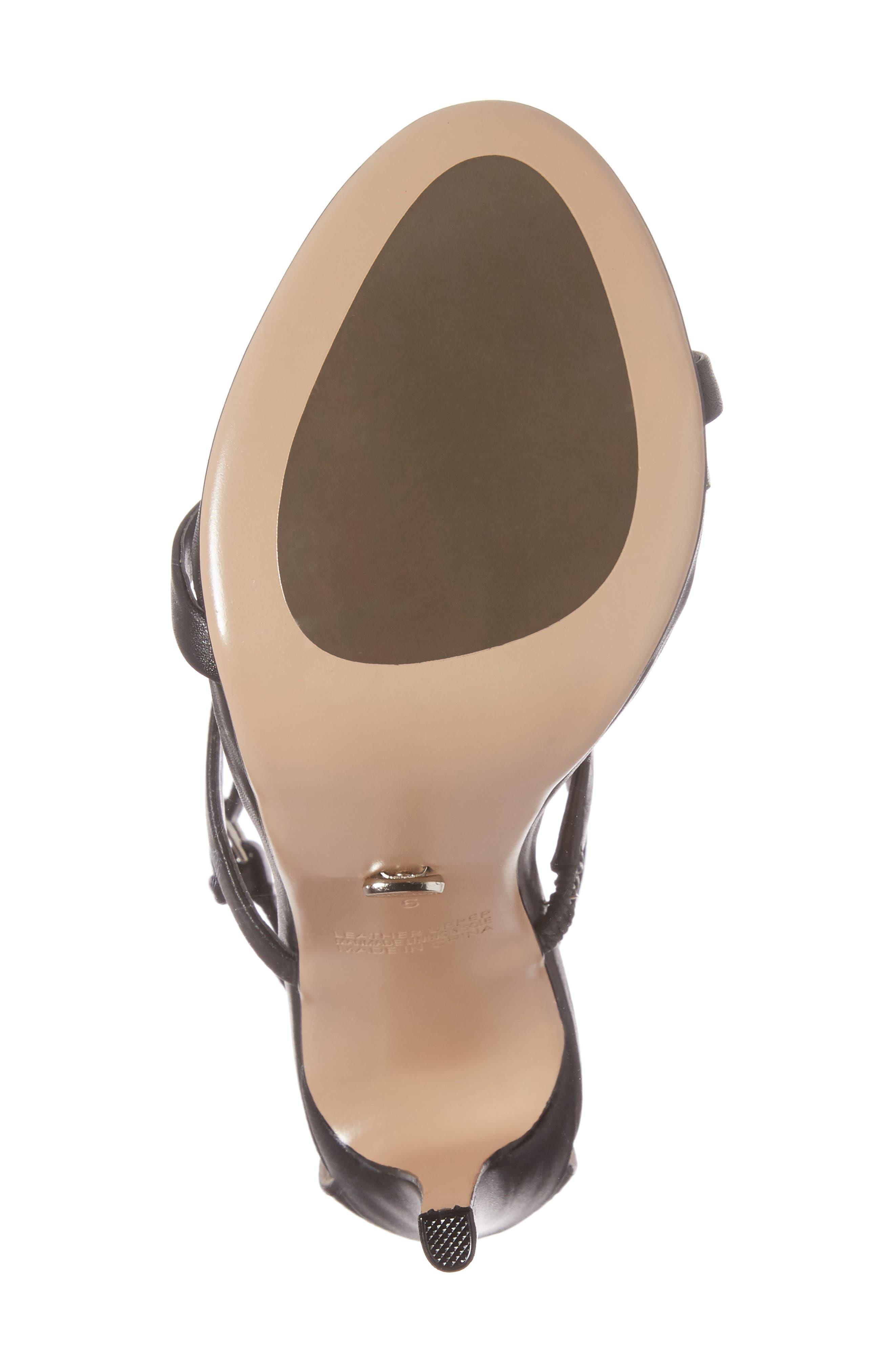 Atkins Sandal,                             Alternate thumbnail 6, color,                             Black Capretto Leather