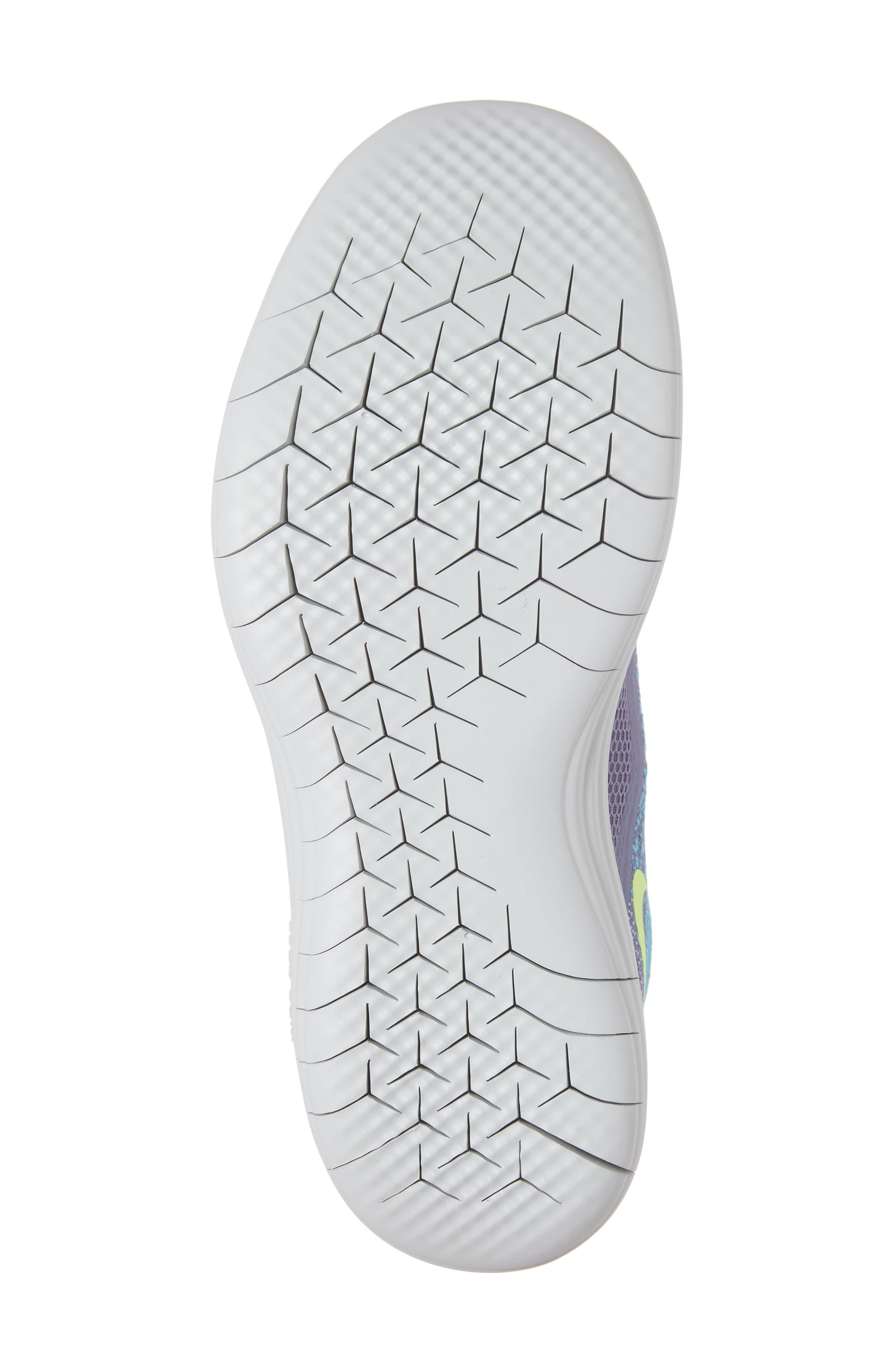 Free Run Distance 2 Running Shoe,                             Alternate thumbnail 6, color,                             Polarized Blue/ Volt/ Purple