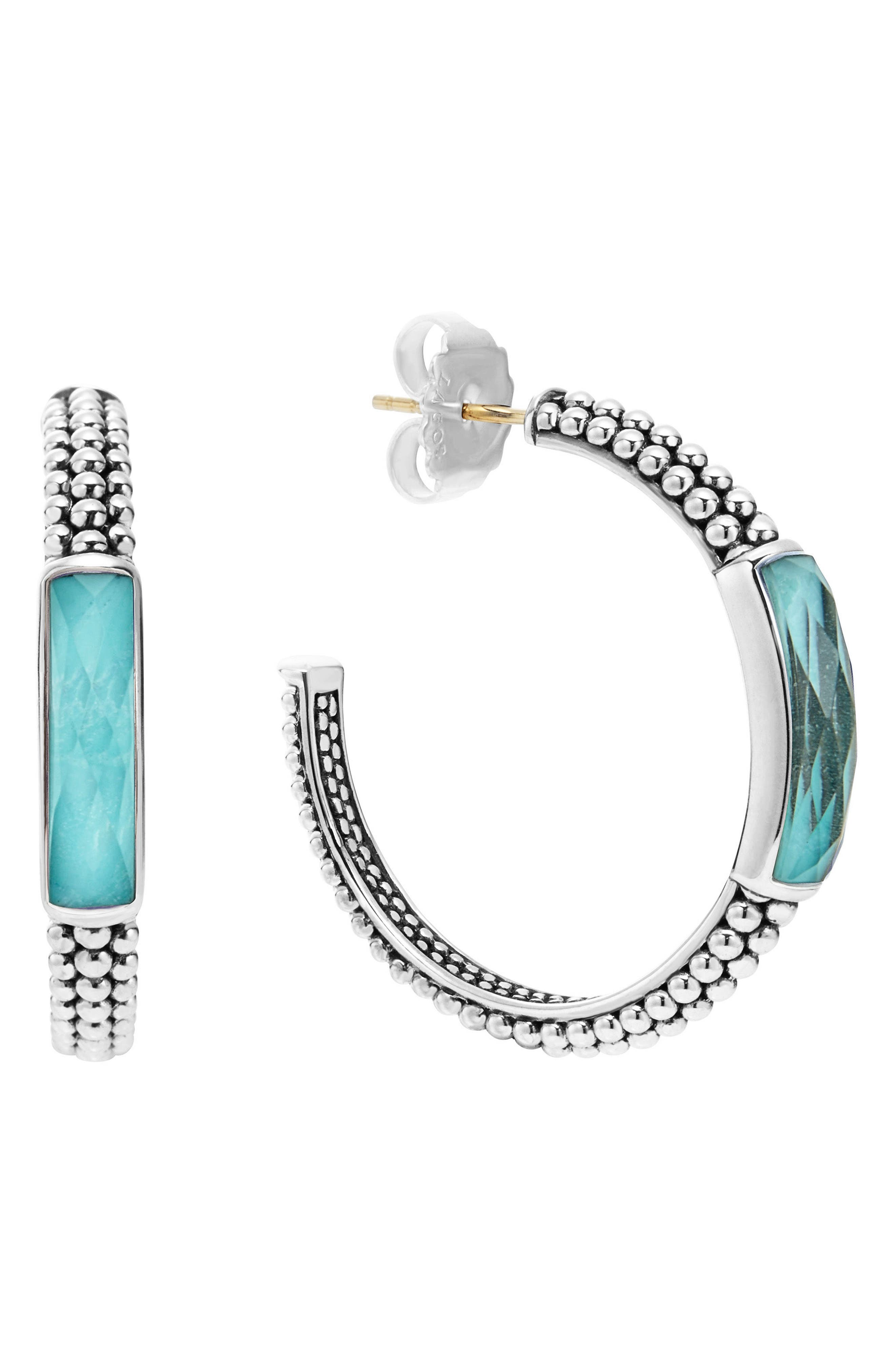 LAGOS Maya Caviar Hoop Earrings