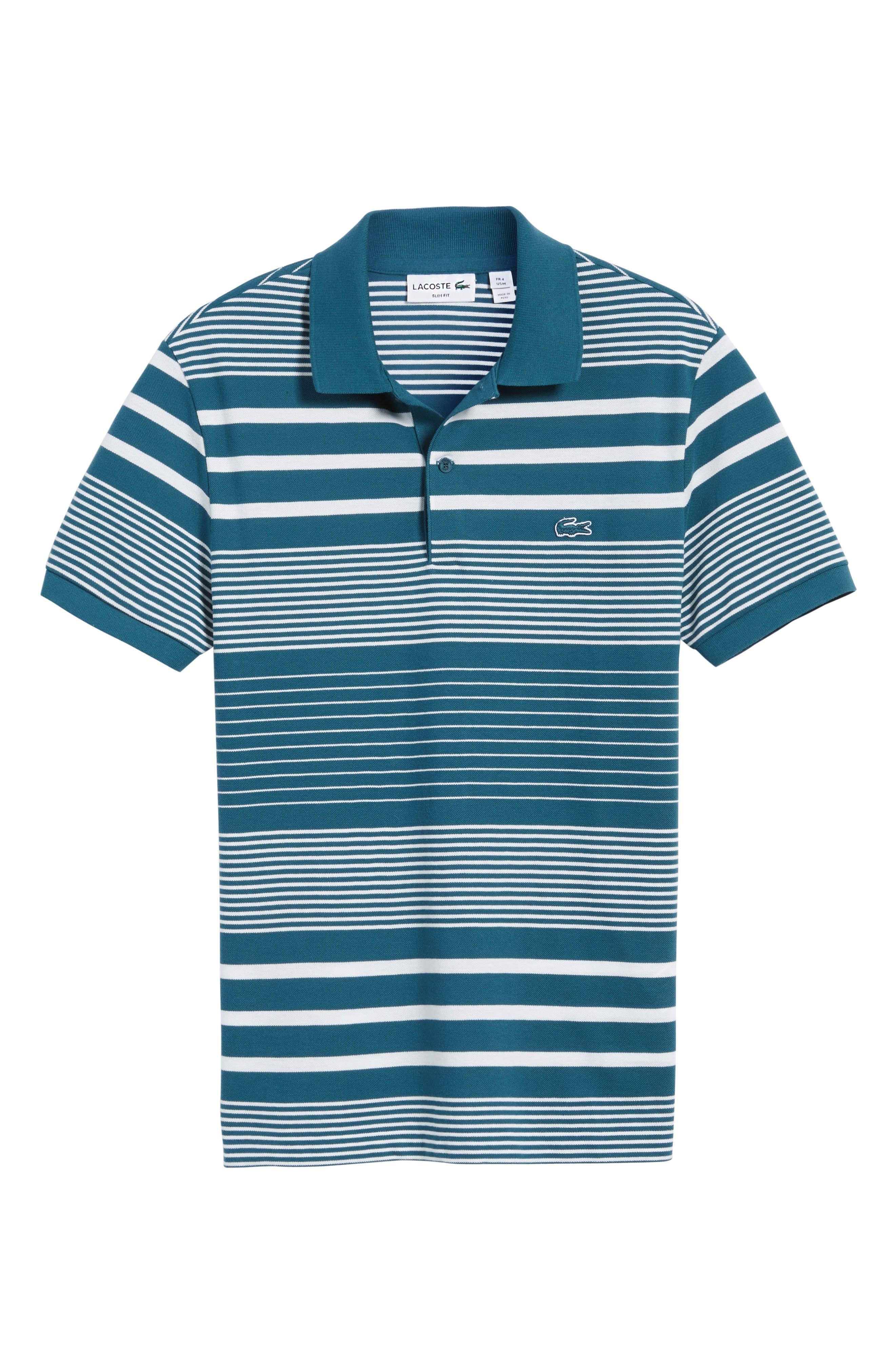 Alternate Image 6  - Lacoste Stripe Piqué Polo