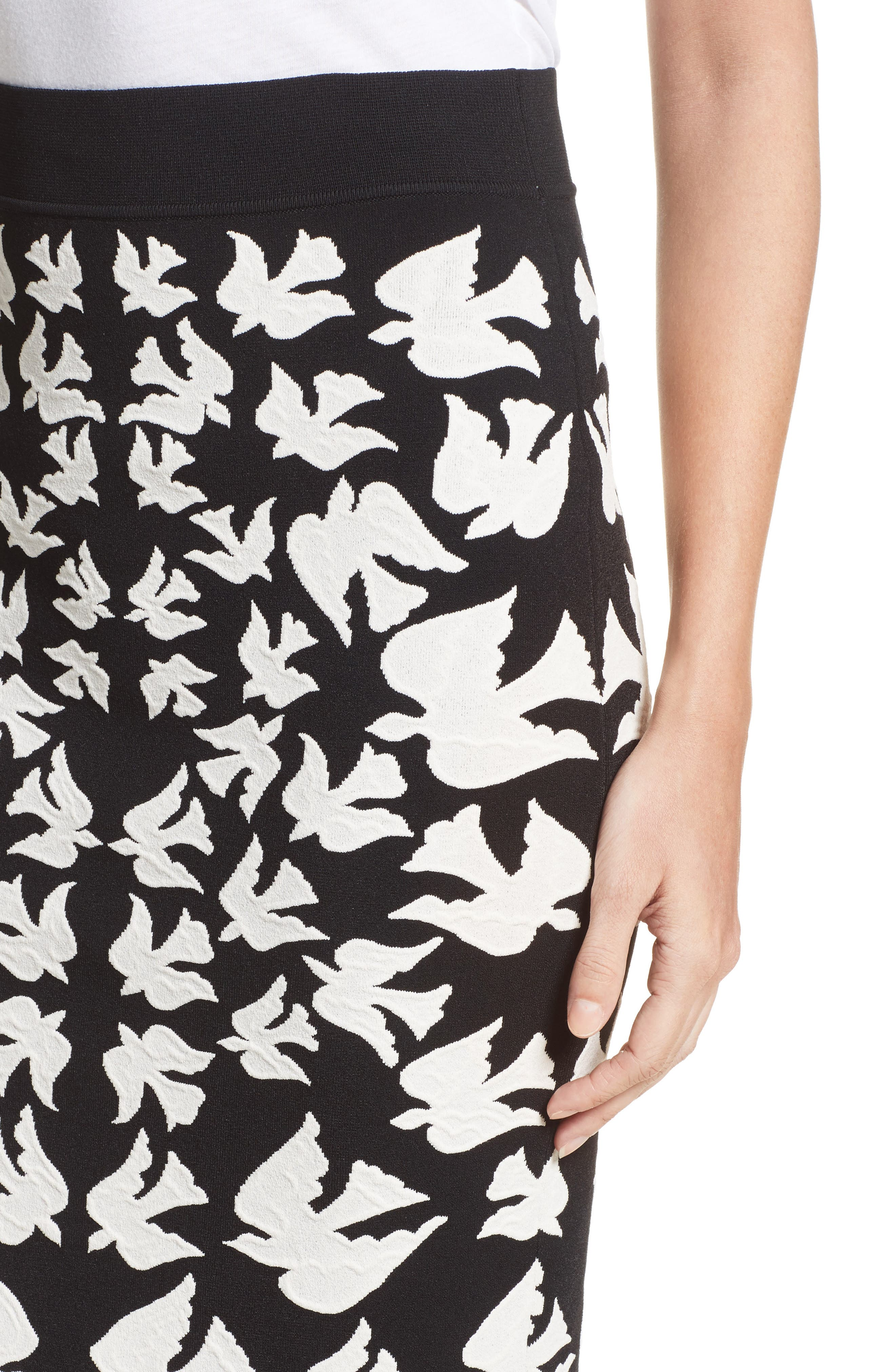Alternate Image 6  - Alexander McQueen Swallow Jacquard Pencil Skirt