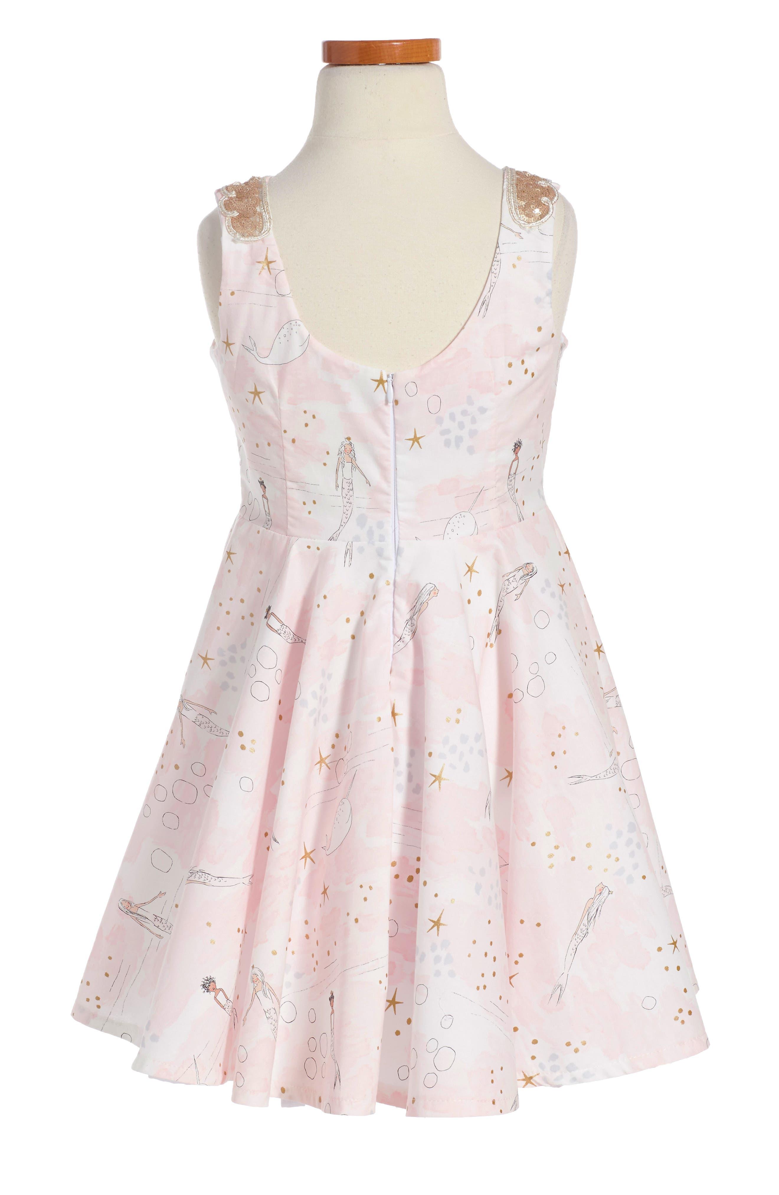 The Little Mermaid Dress,                             Alternate thumbnail 2, color,                             Pink/Gold
