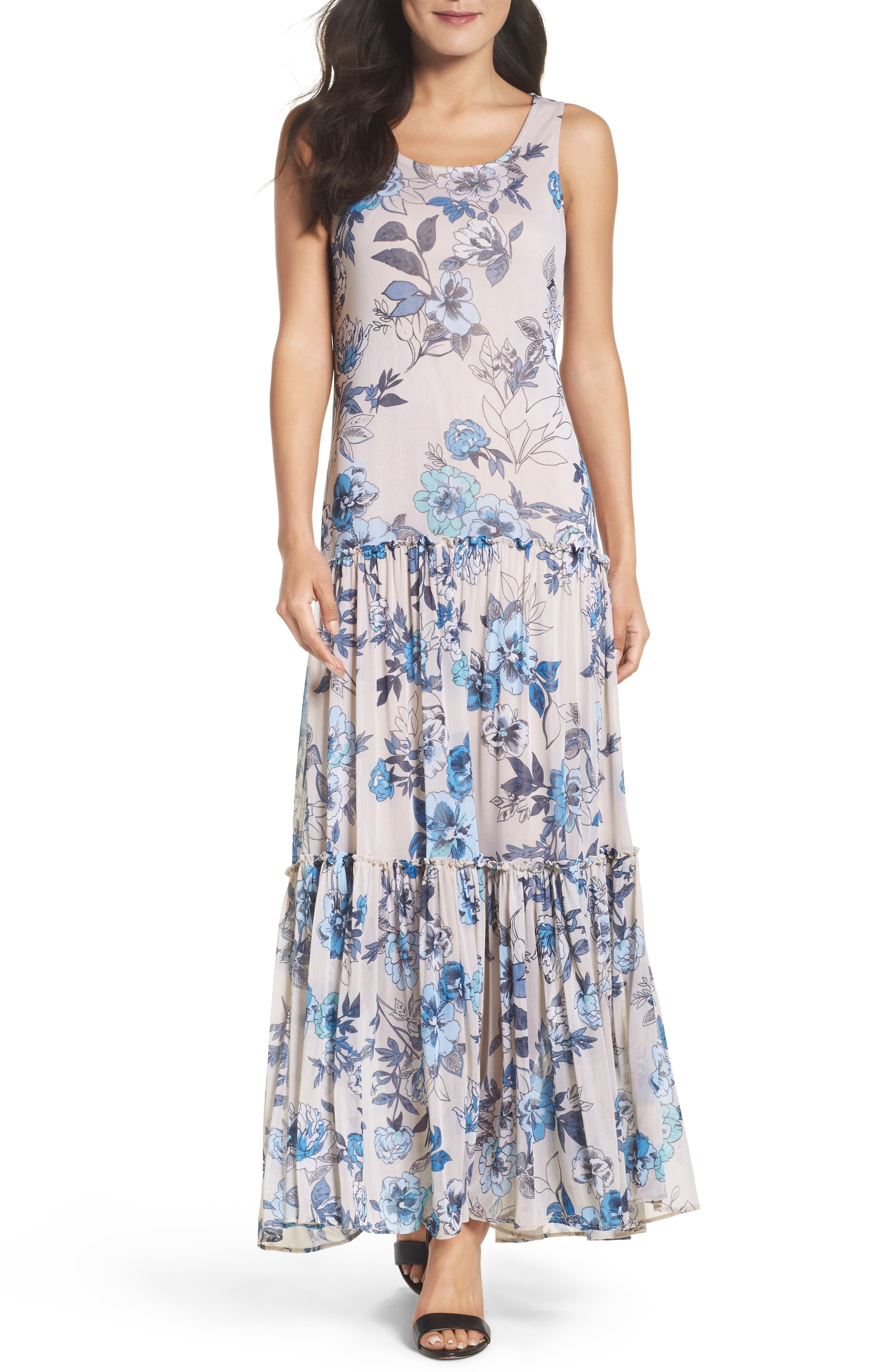 Alternate Image 1 Selected - Taylor Dresses Floral Maxi Dress