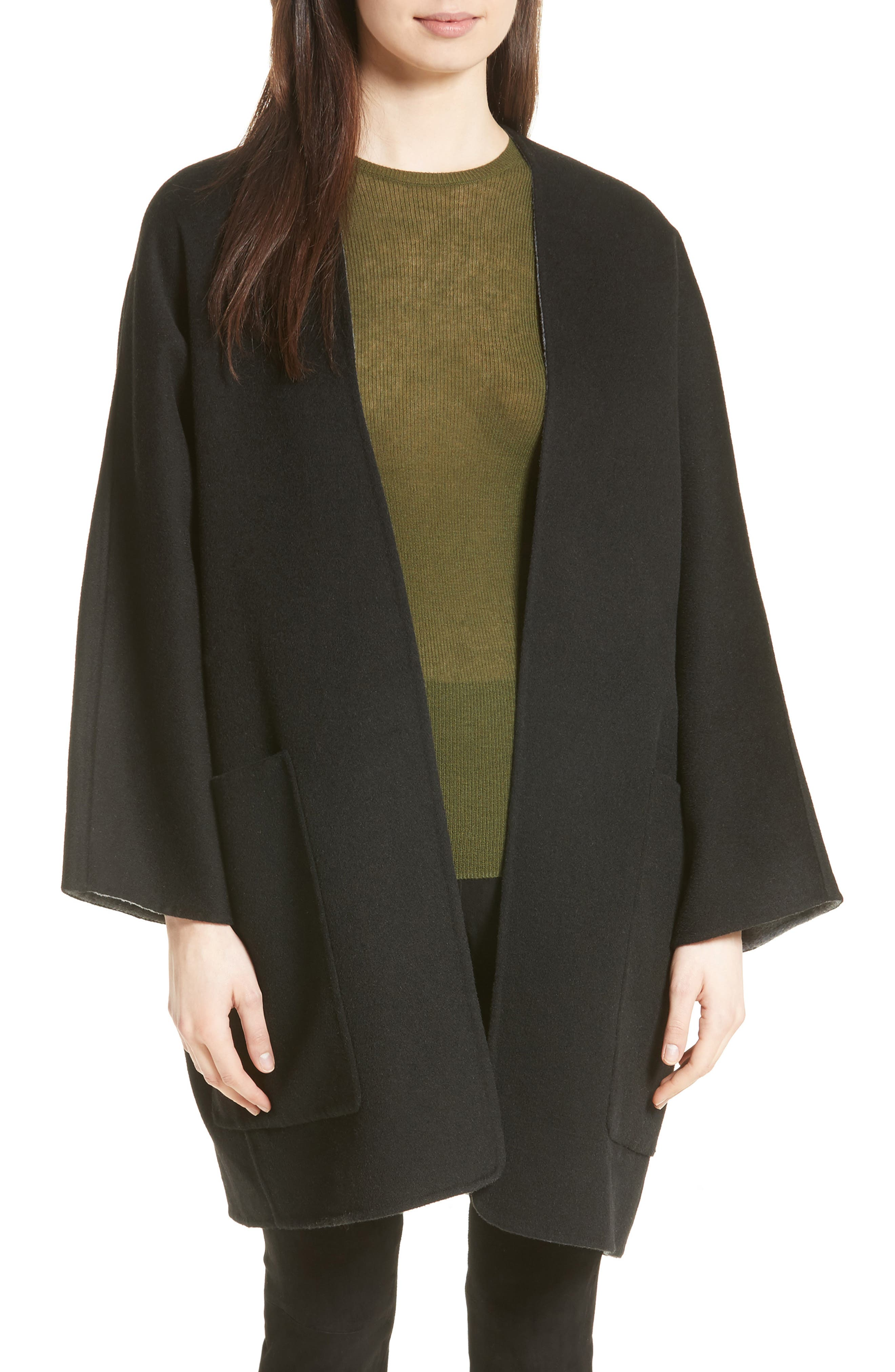 Alternate Image 1 Selected - Vince Reversible Wool & Cashmere Clutch Coat