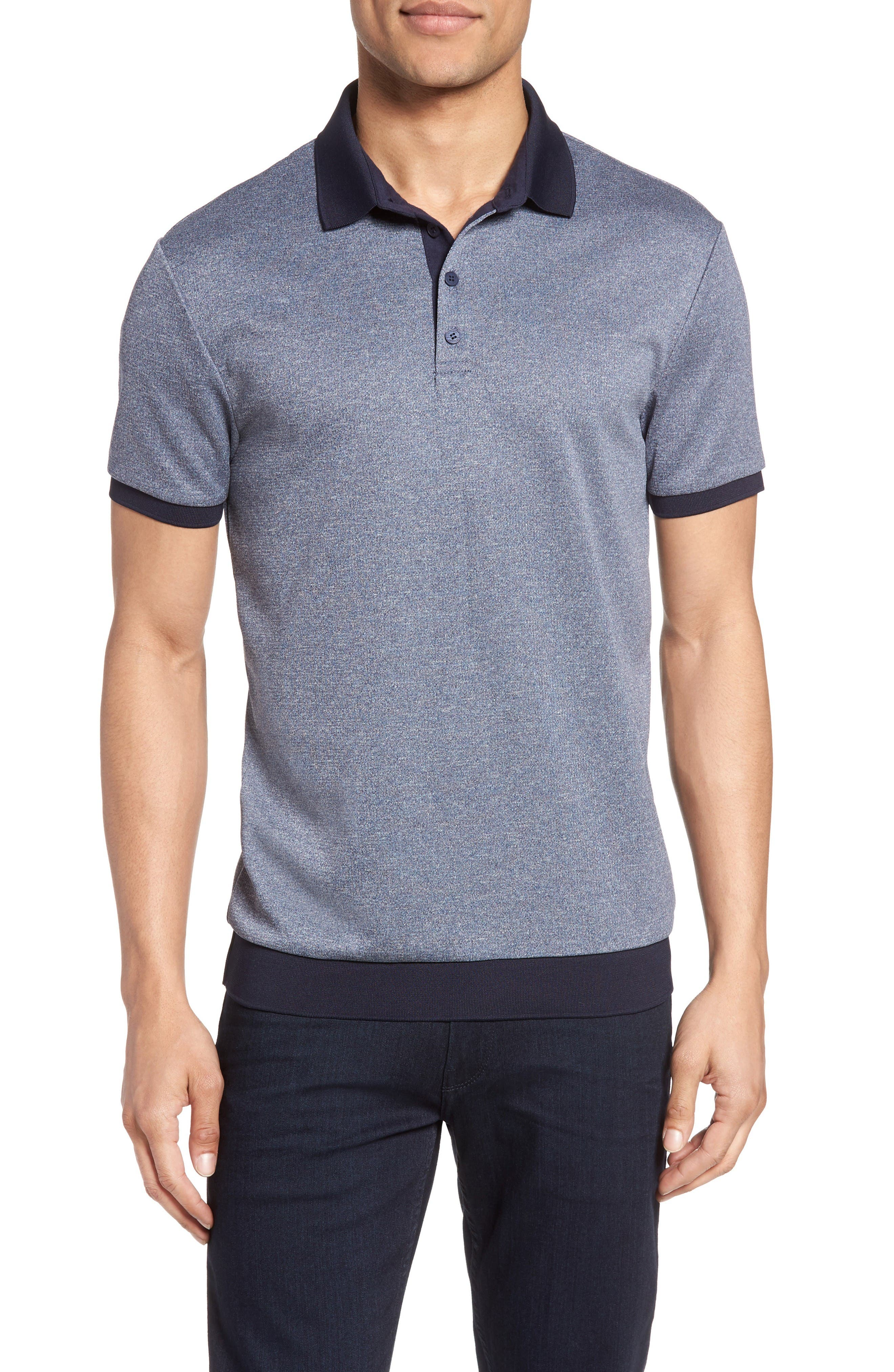 Vince Camuto Contrast Trim Knit Polo
